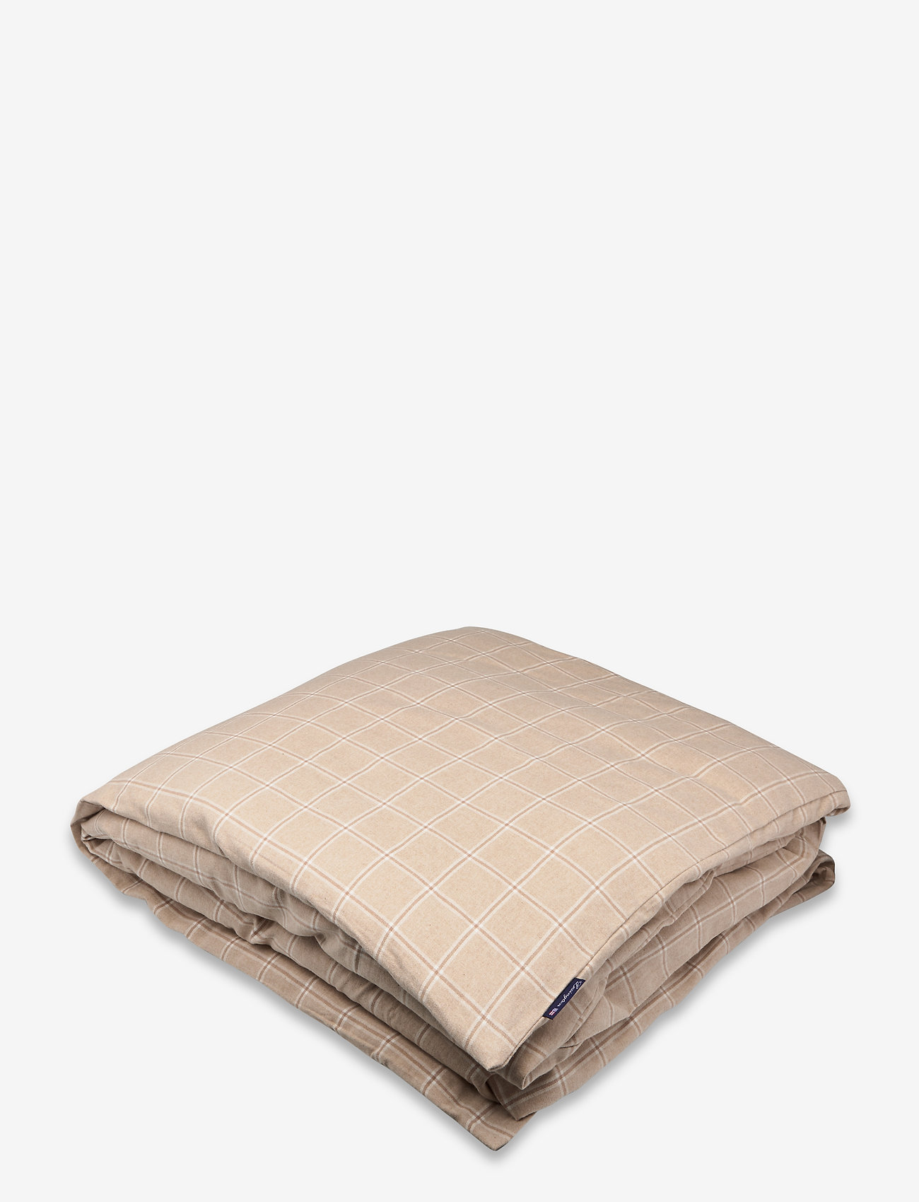 Lexington Home - Checked Cotton/Cashmere Flannel Duvet Cover - duvet covers - beige/white - 0