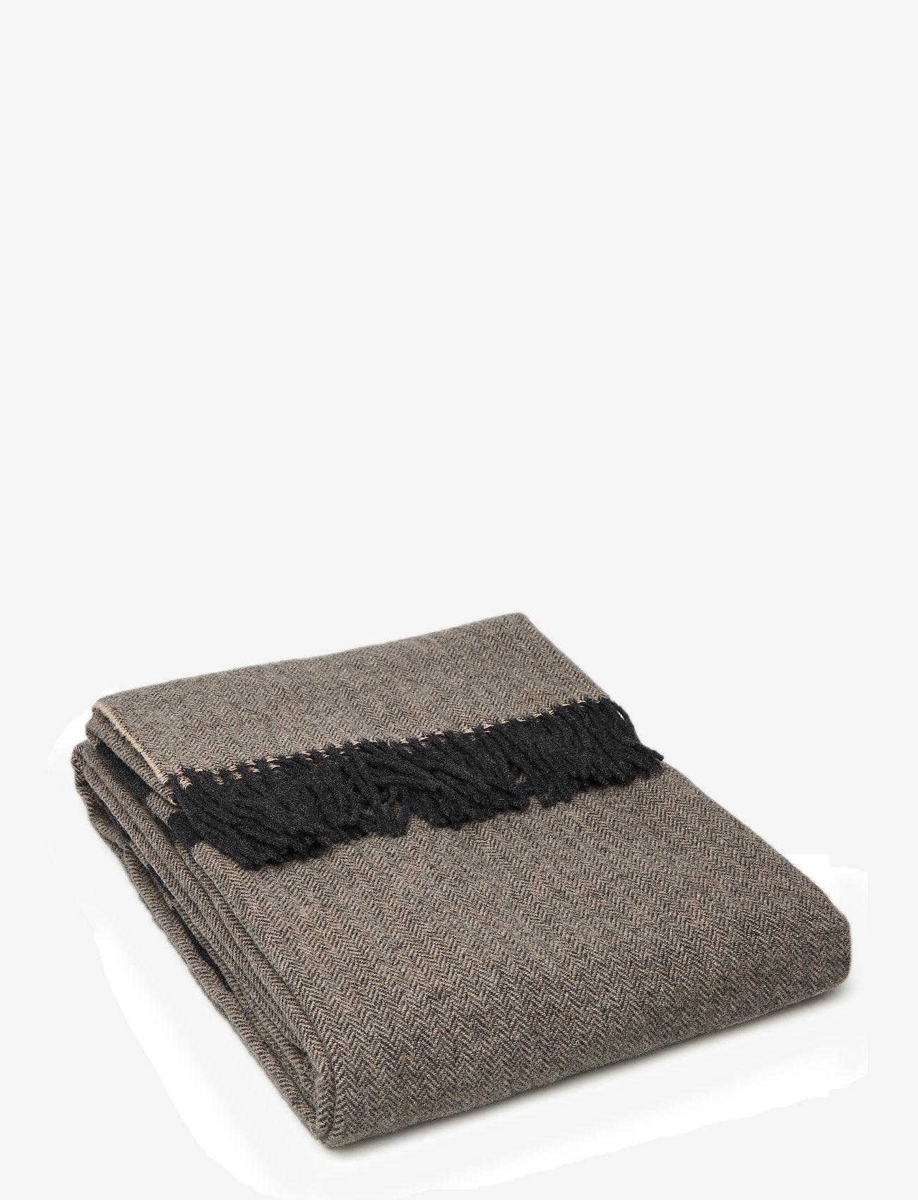 Lexington Home - Herringbone Recycled Wool Throw - viltit - brown - 0