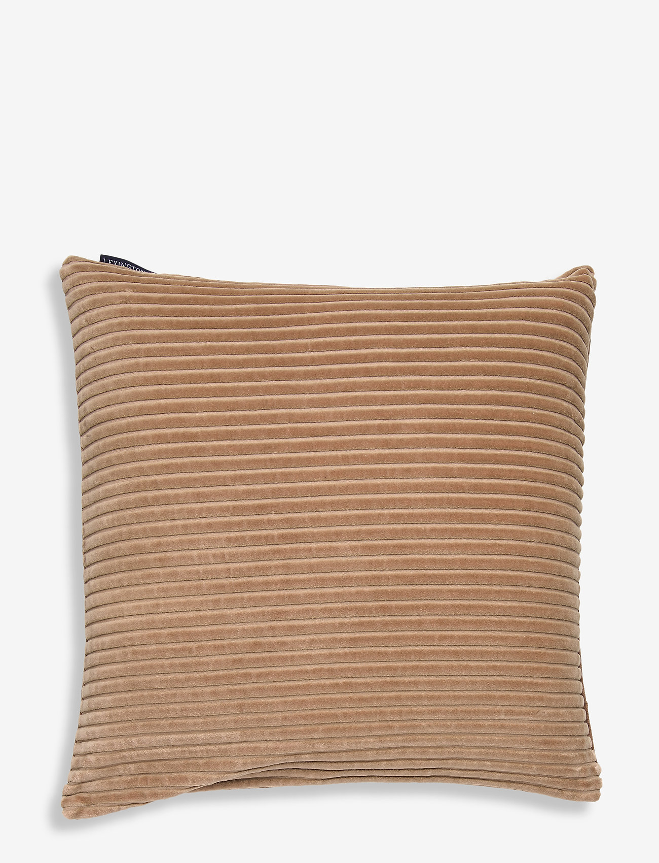 Lexington Home - Velvet Cord Cotton Pillow Cover - tyynyliinat - dk. beige - 0