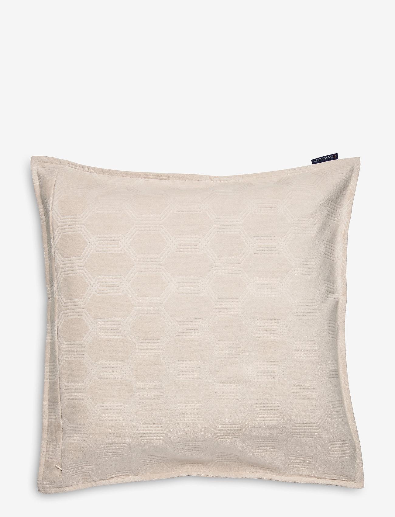 Lexington Home - Jacquard Cotton Velvet Pillow Cover 65x65cm - poszewki na poduszki ozdobne - off white - 1