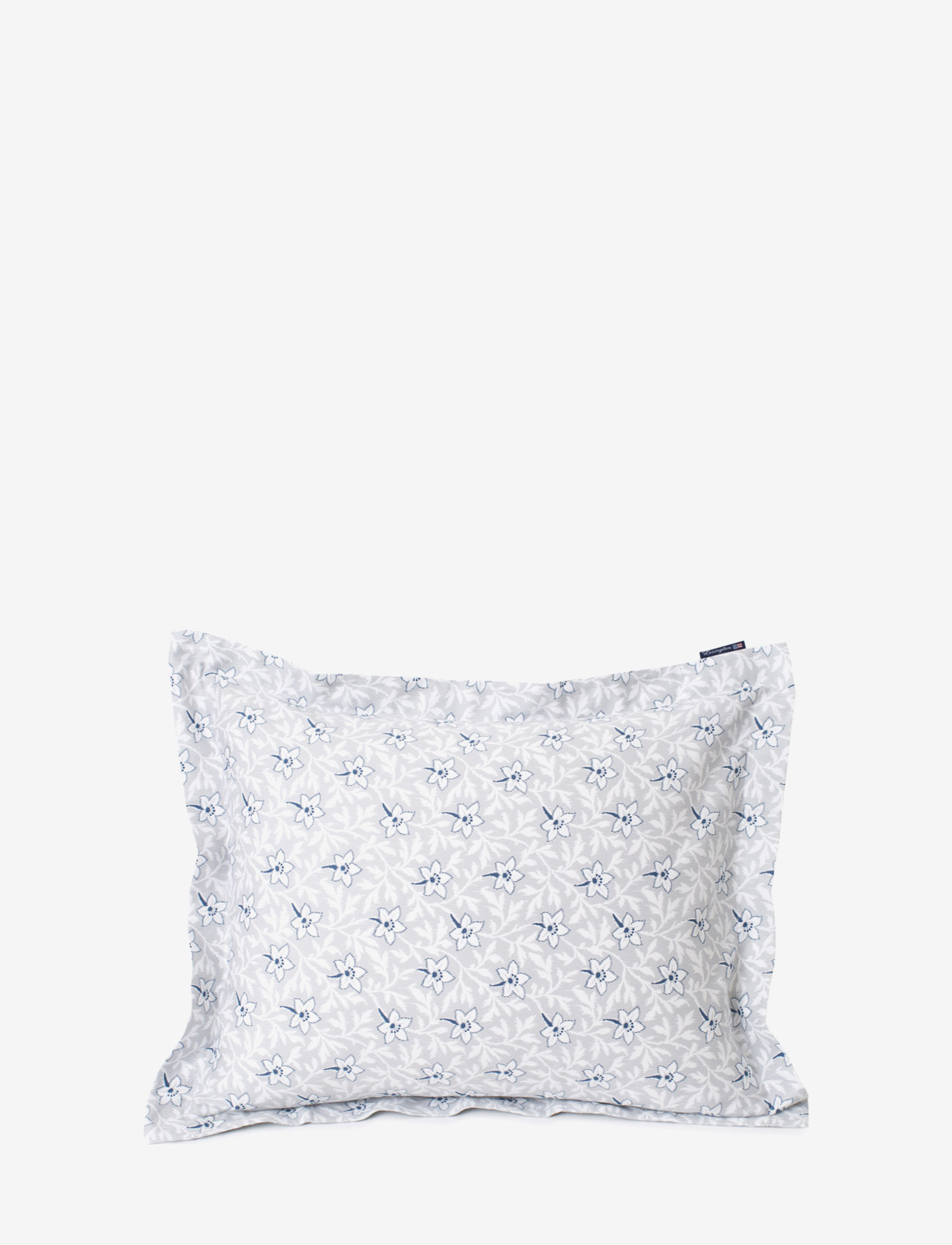 Lexington Home - LtGray/Blue Flower Print Cotton Sateen Pillowcase - coussins - lt. gray/blue - 0