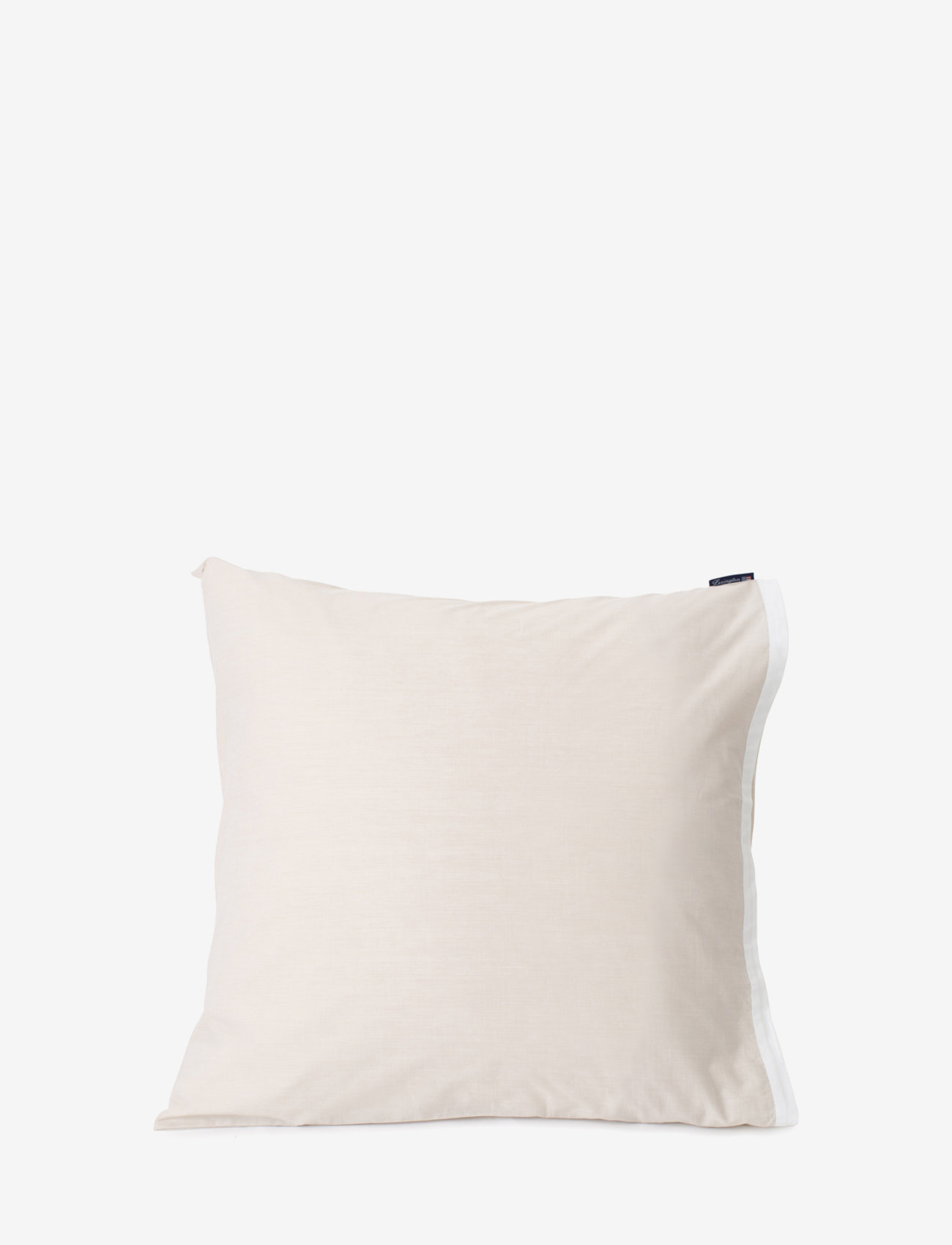 Lexington Home - Beige/White Contrast Cotton Chambray Pillowcase - taie d'oreiller - beige/white - 0
