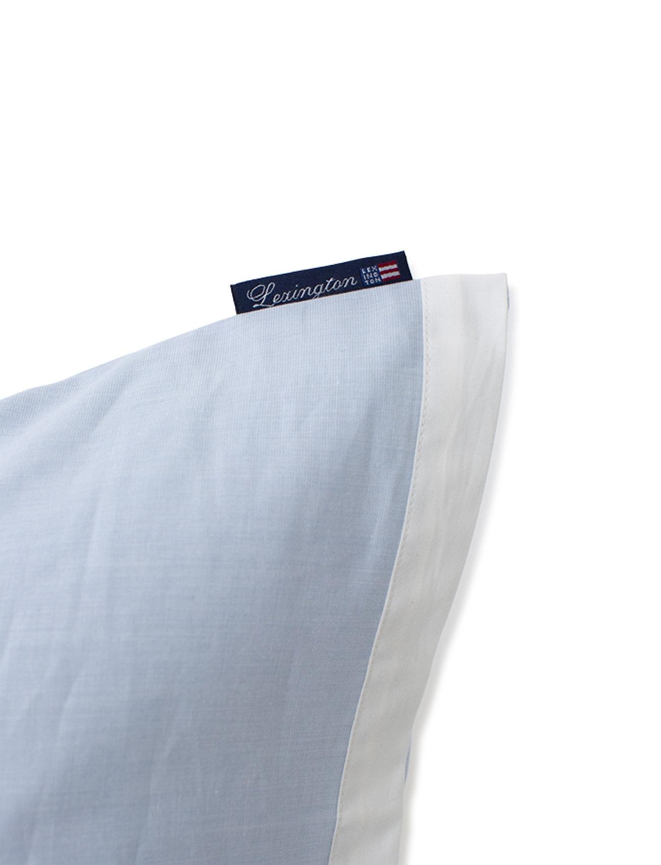 Lexington Home - Blue/White Contrast Cotton Chambray Pillowcase - pillowcases - blue/white - 1