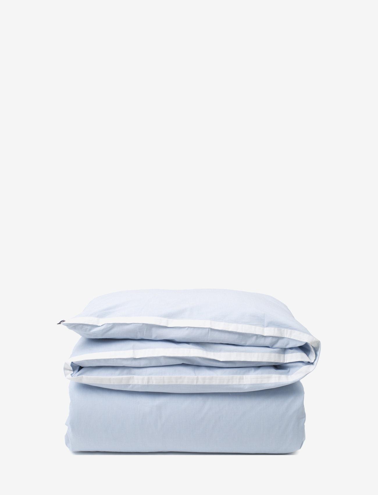 Lexington Home - Blue/White Contrast Cotton Chambray Duvet Cover - duvet covers - blue/white - 0