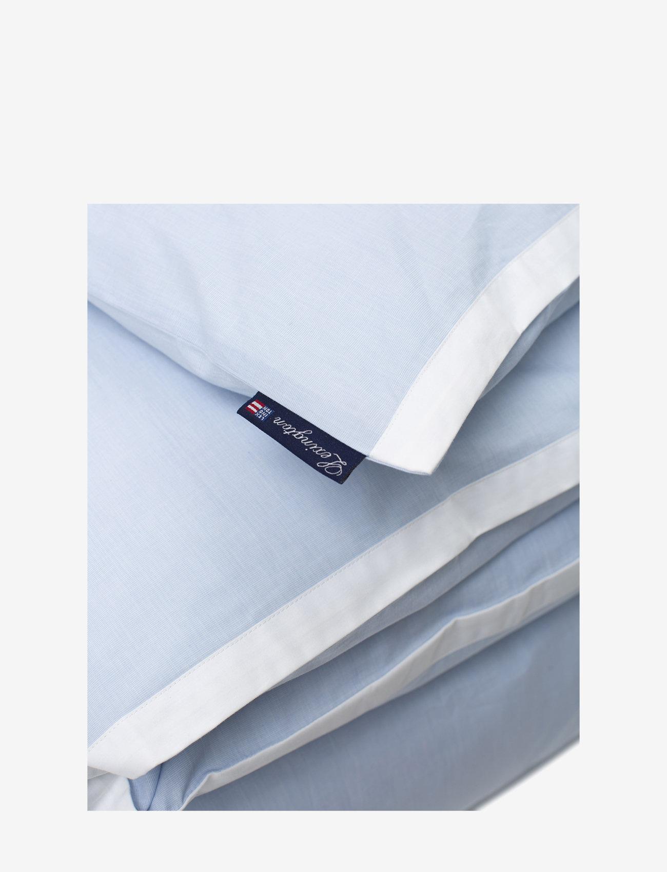 Lexington Home - Blue/White Contrast Cotton Chambray Duvet Cover - duvet covers - blue/white - 1