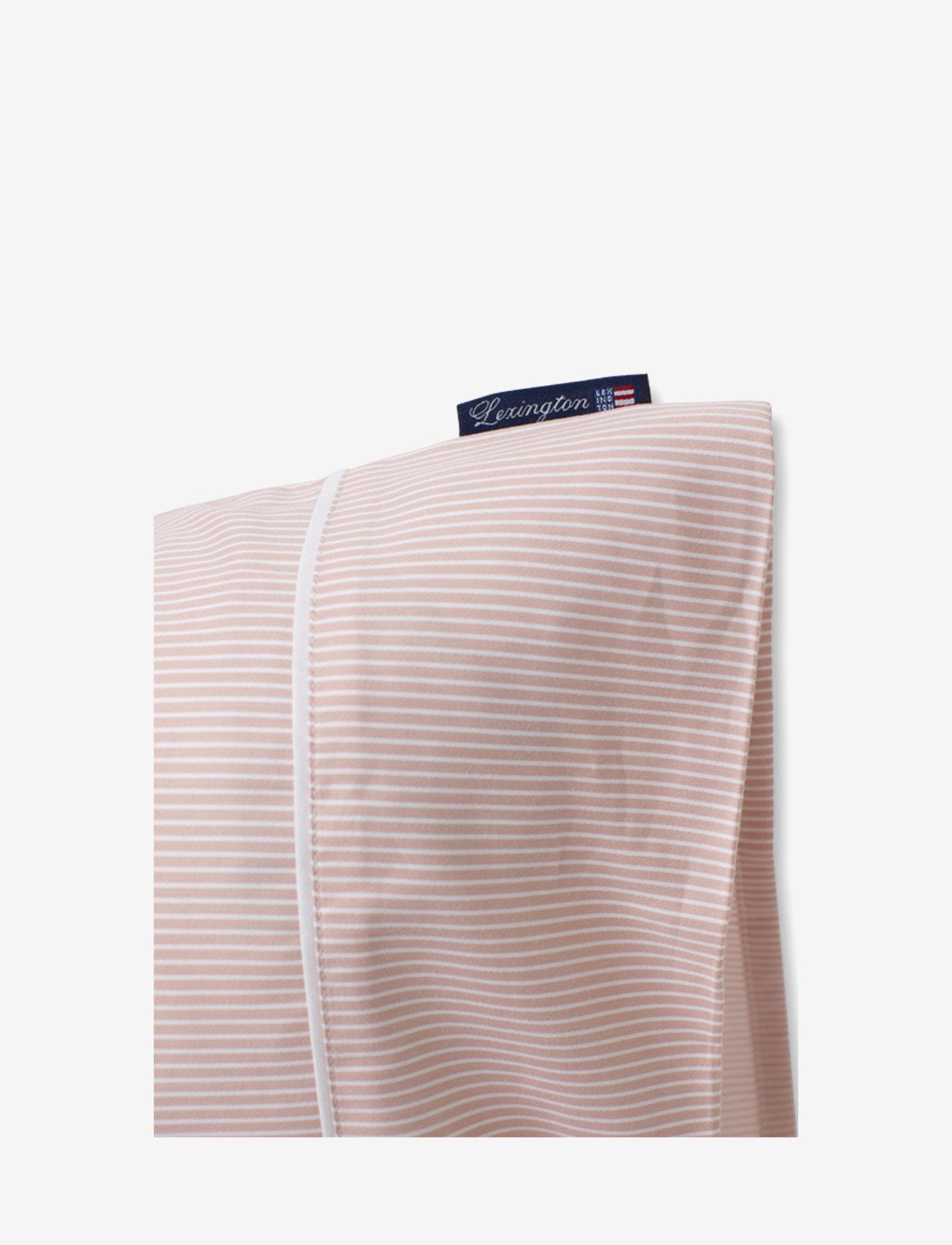 Lexington Home - Pink/White Striped Tencel/Cotton Pillowcase - tyynyliinat - pink/white - 1