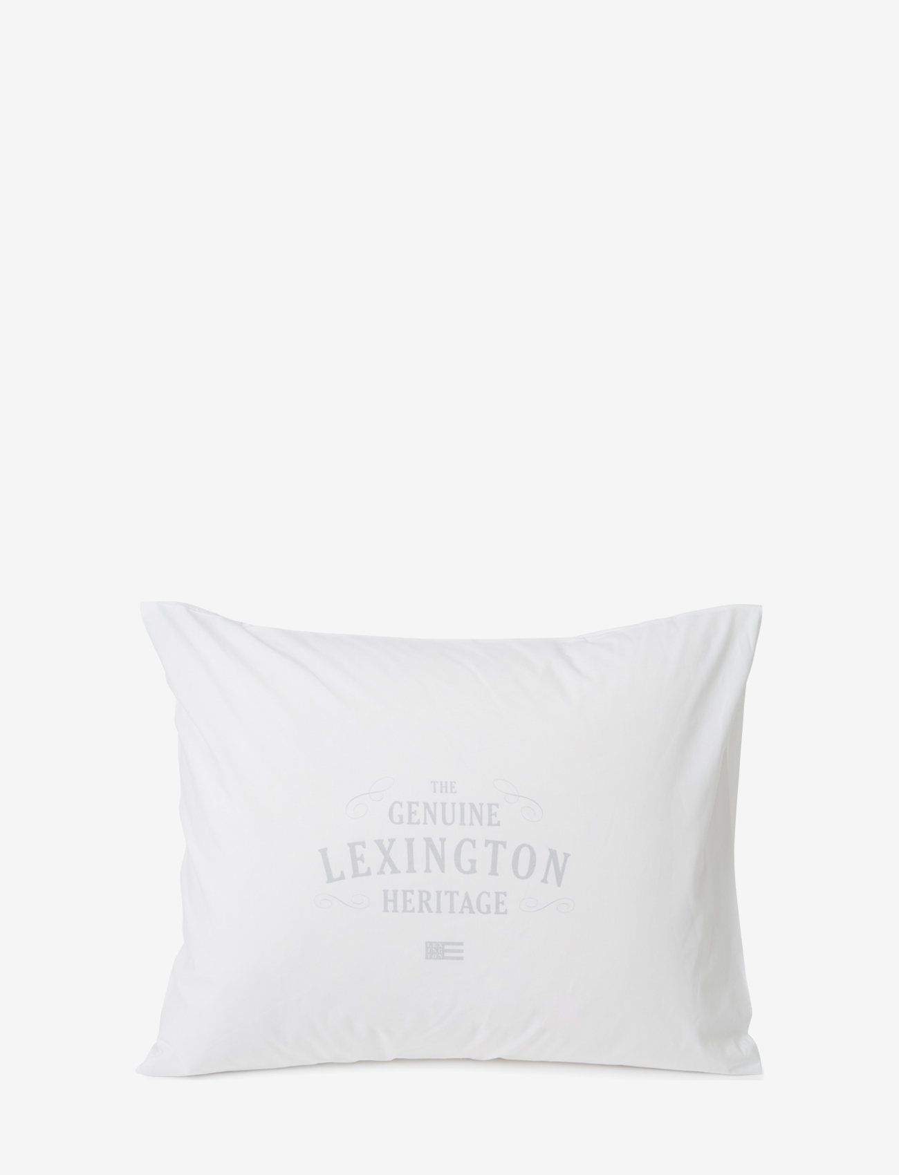 Lexington Home - Lexington Printed Cotton Poplin Pillowcase - pillowcases - white/lt. gray - 0