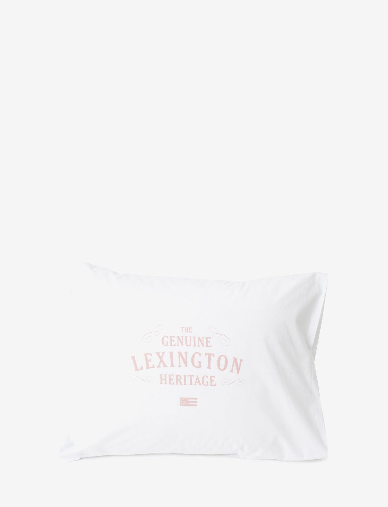 Lexington Home - Lexington Printed Cotton Poplin Pillowcase - pillowcases - white/pink - 0