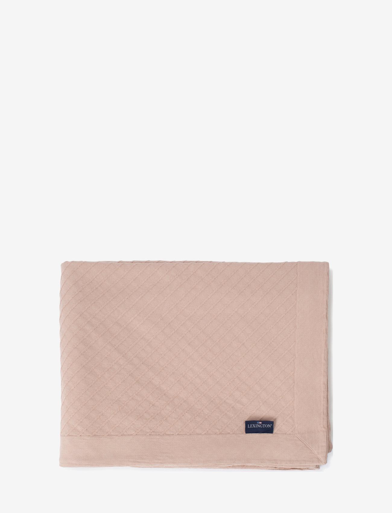 Lexington Home - Diagonal Structured Cotton Bedspread - blankets - pink - 0