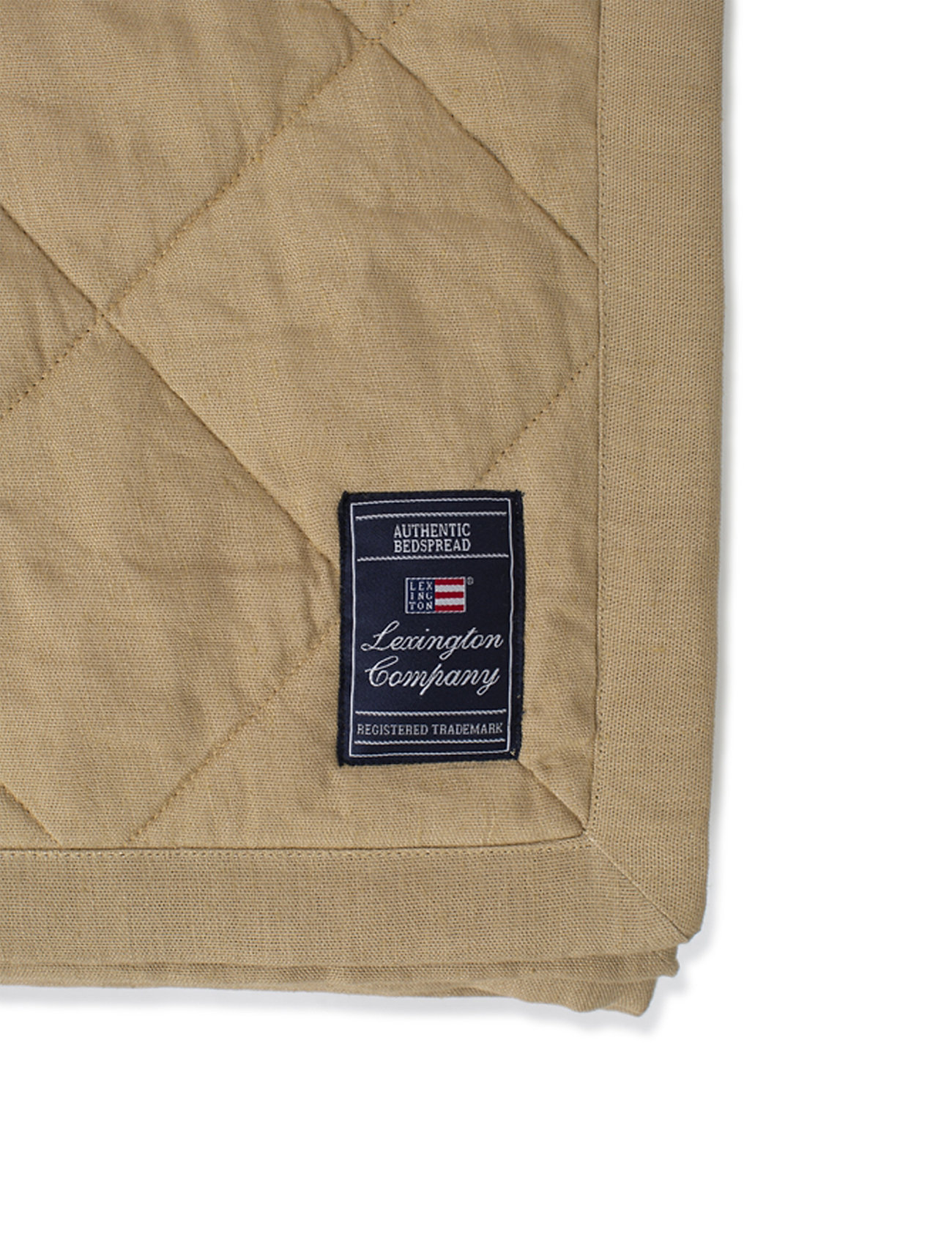 Lexington Home - Quilted Linen/Viscose Bedspread - plaids - beige - 1