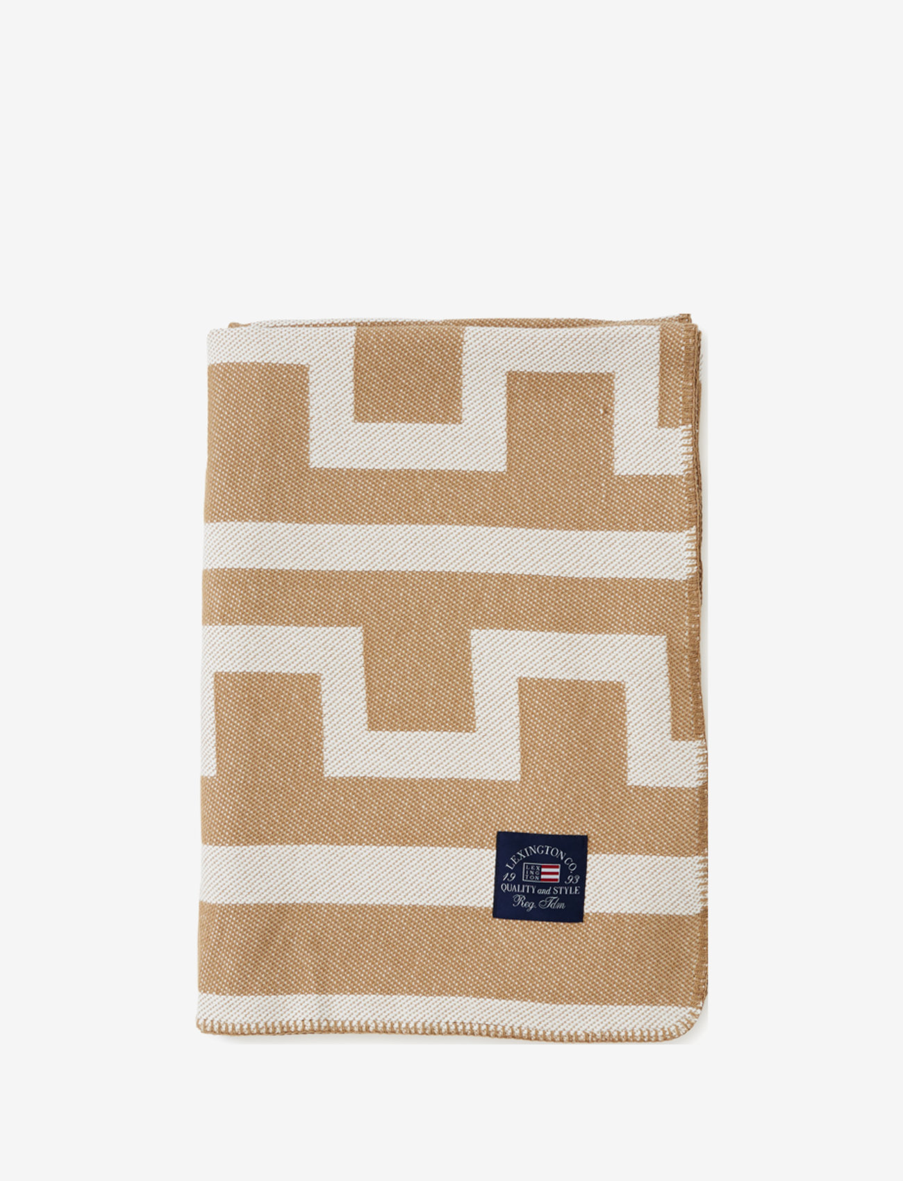 Lexington Home - Graphic Recycled Cotton Blanket - plaids - off white/beige - 0