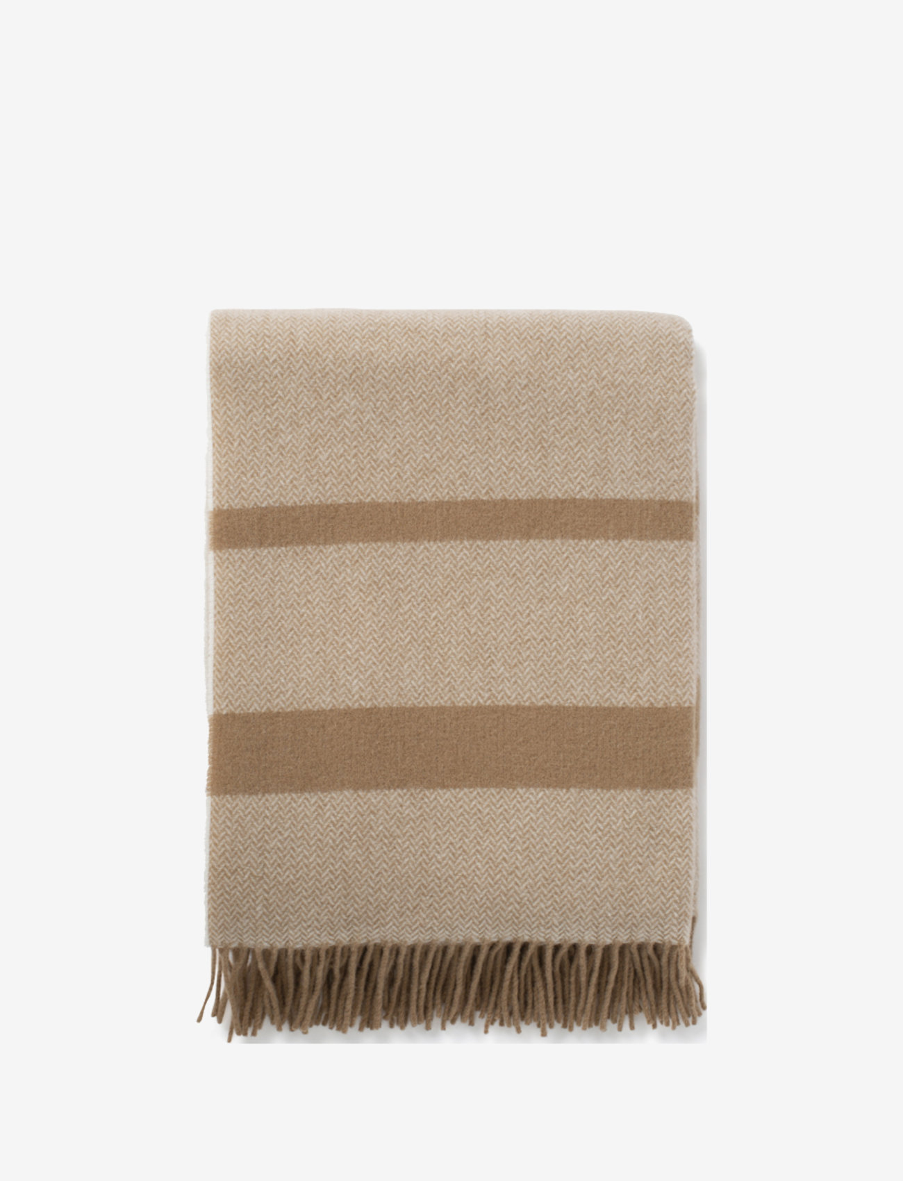 Lexington Home - Herringbone Recycled Wool Throw - plaids - beige - 1