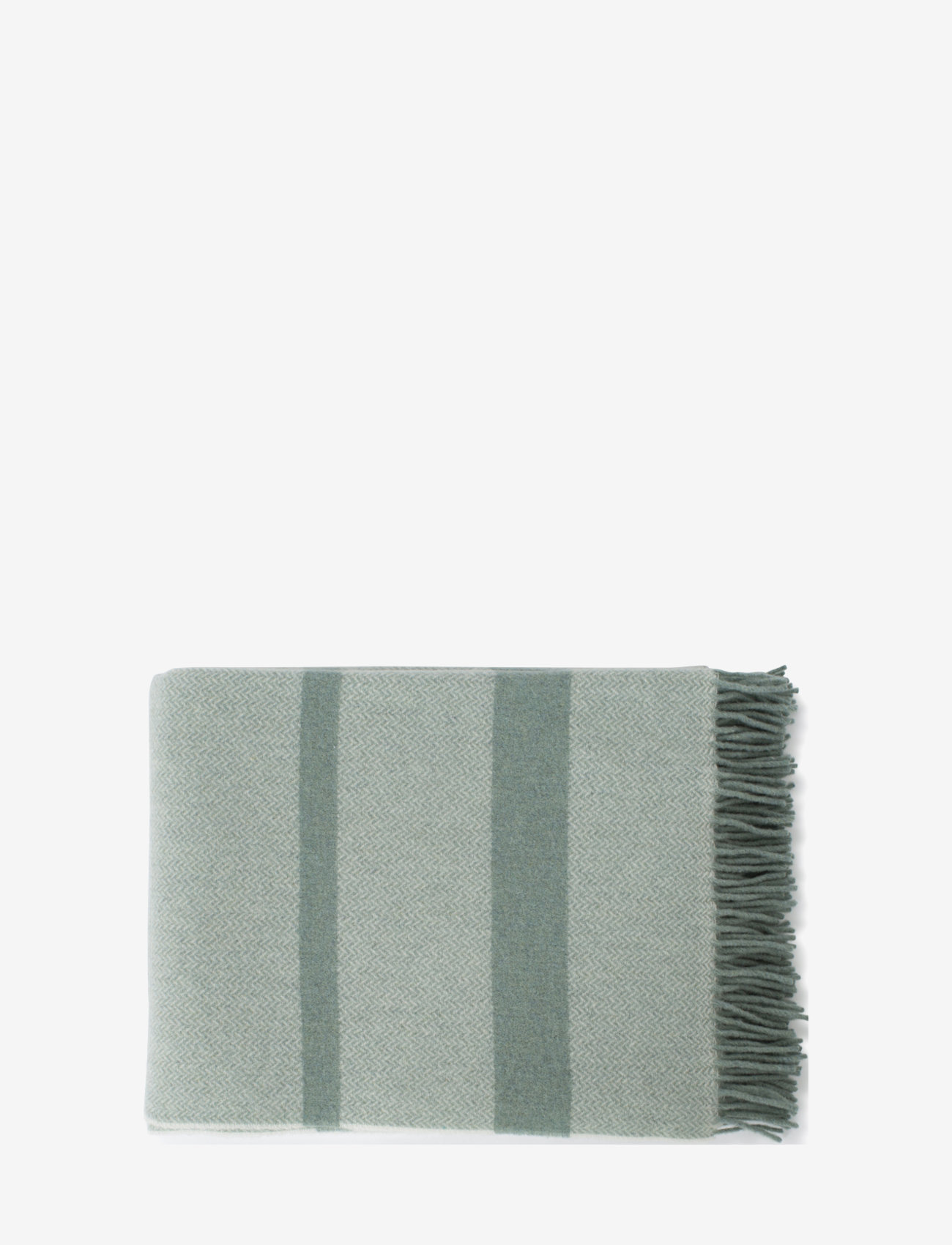 Lexington Home - Herringbone Recycled Wool Throw - blankets - green - 1