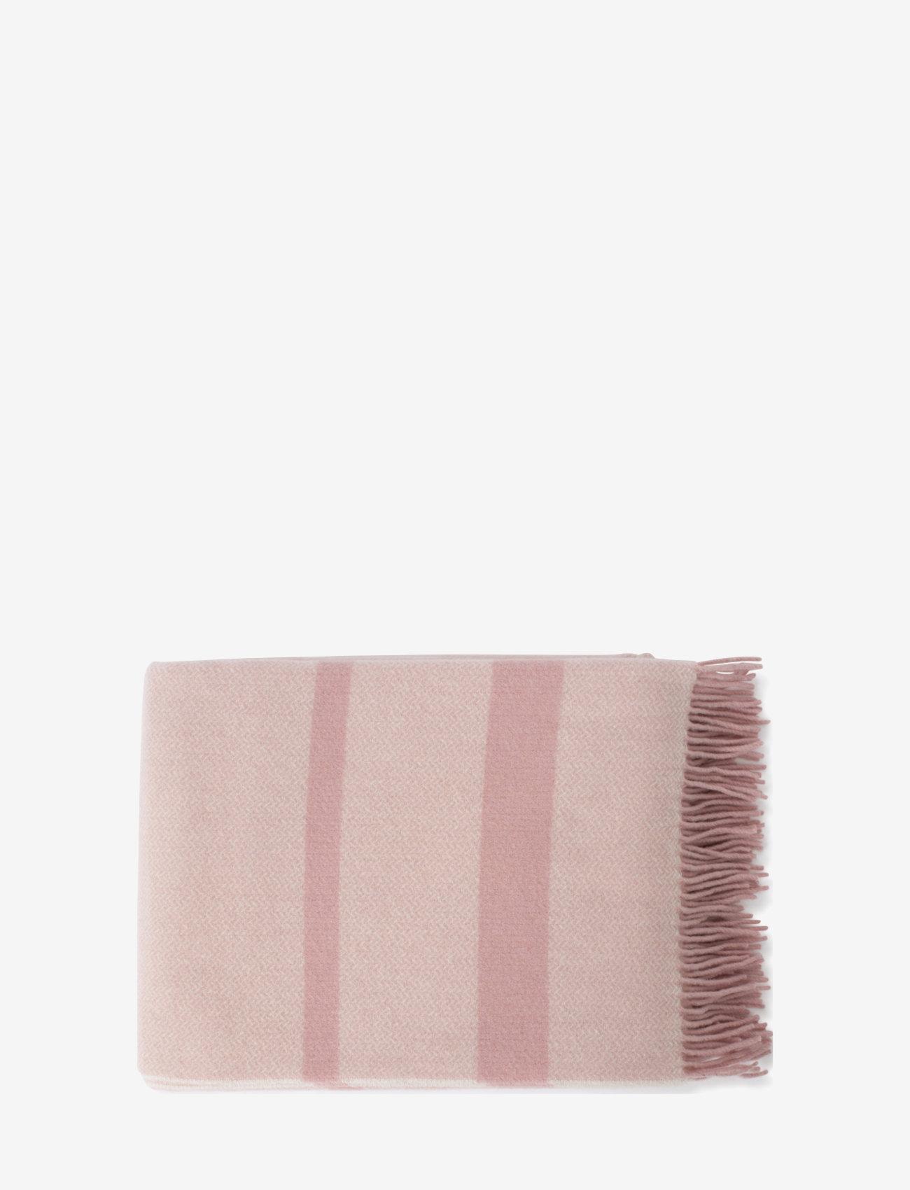 Lexington Home - Herringbone Recycled Wool Throw - blankets - pink - 1