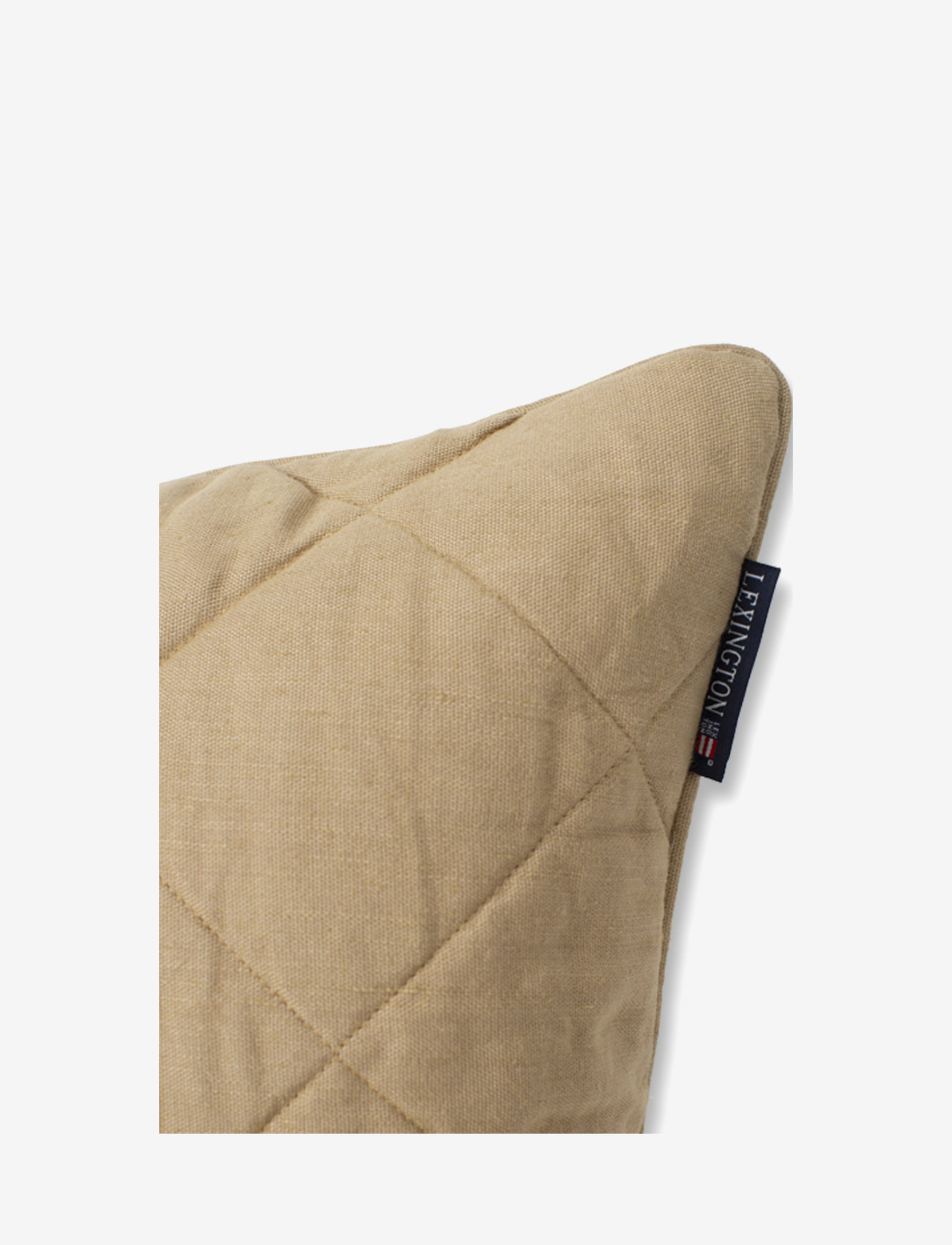 Lexington Home - Quilted Linen/Viscose Pillow Cover - poszewki na poduszki ozdobne - beige - 1