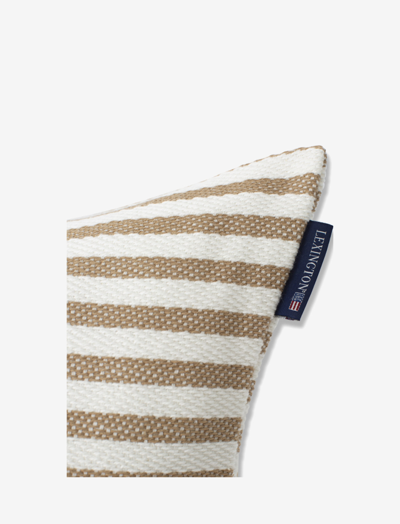 Lexington Home - Block Striped Recycled Cotton Pillow Cover - housses de coussins - beige - 1