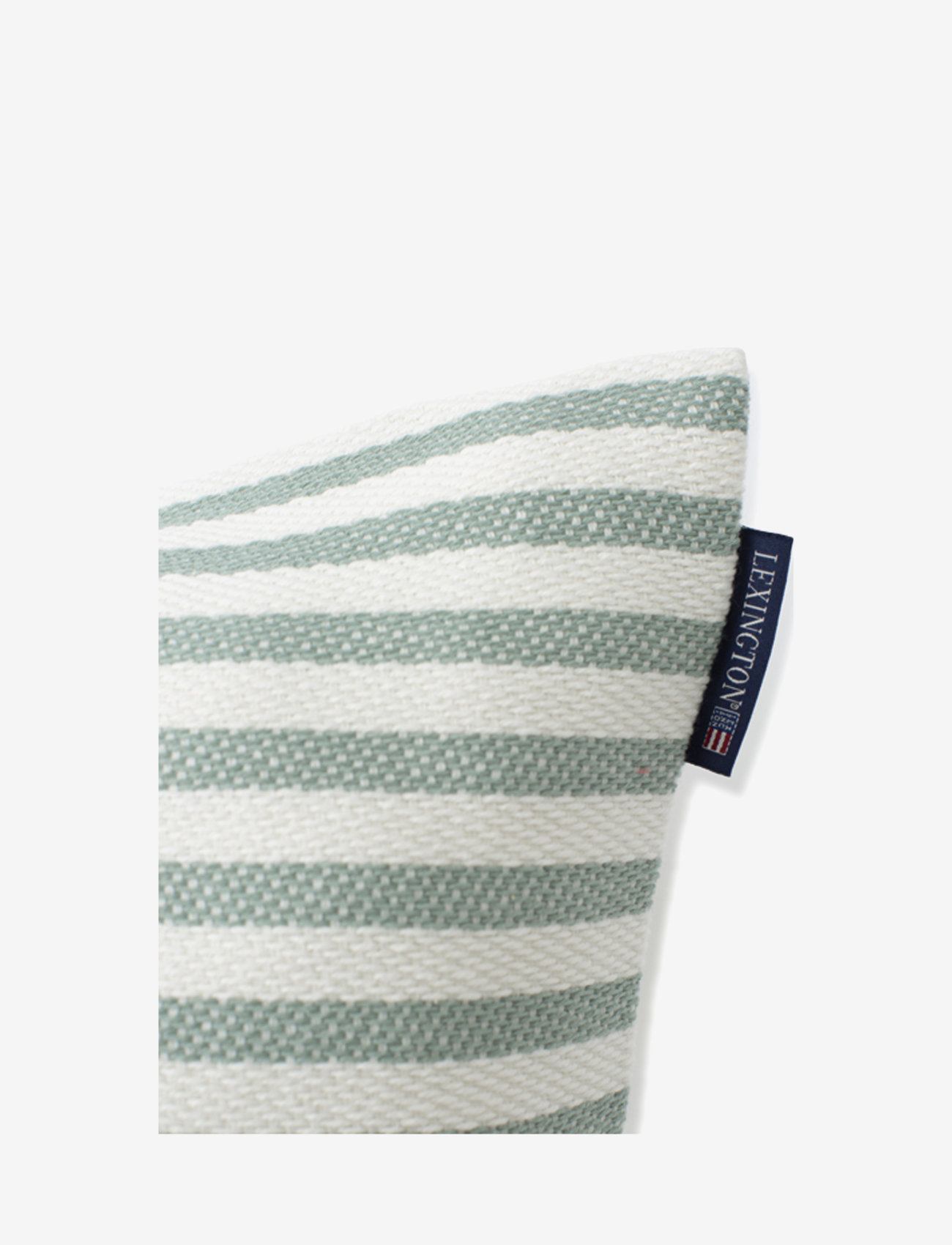 Lexington Home - Block Striped Recycled Cotton Pillow Cover - housses de coussins - green - 1