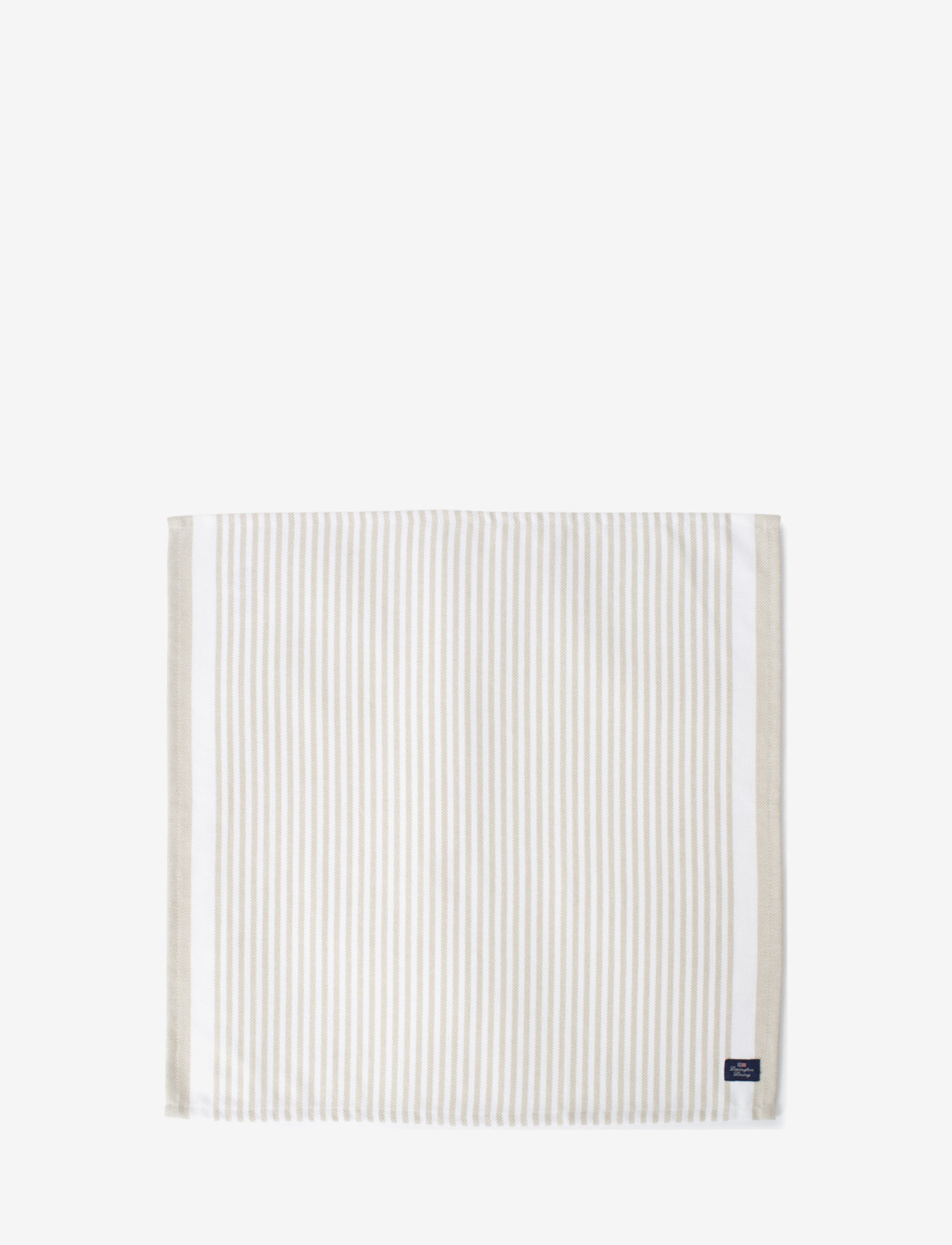 Lexington Home - Striped Cotton Twill Napkin - vaisselle - lt beige/white - 0