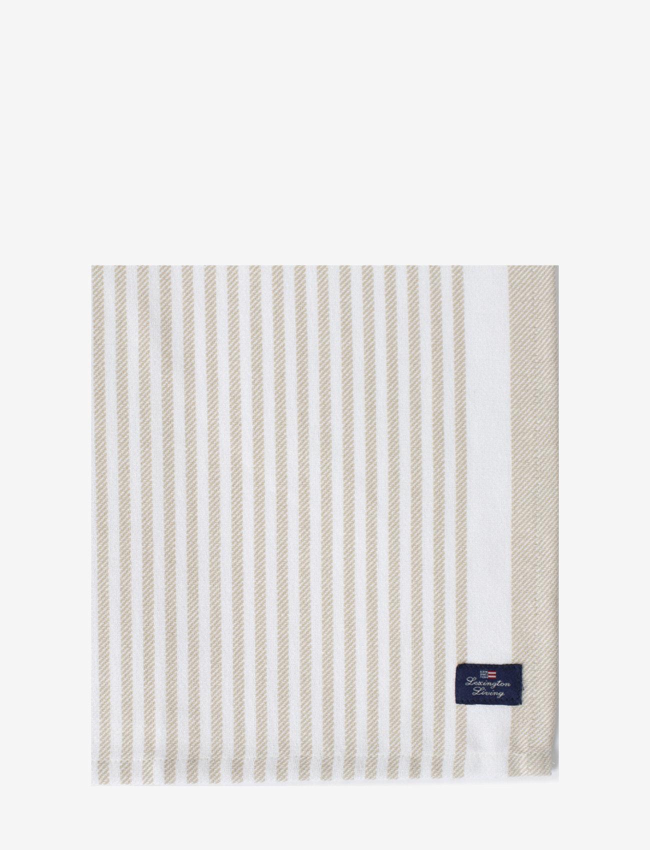 Lexington Home - Striped Cotton Twill Napkin - vaisselle - lt beige/white - 1