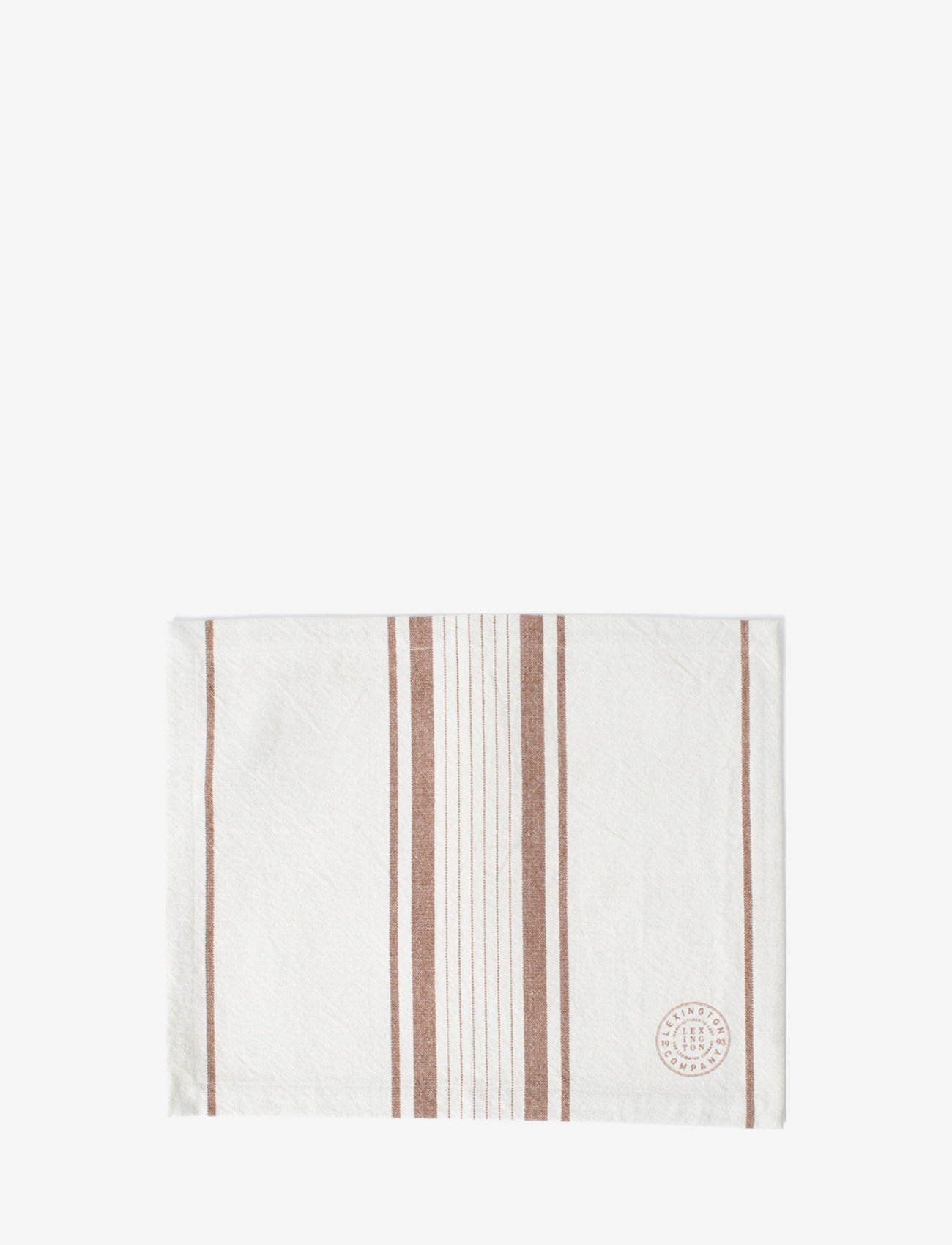 Lexington Home - Striped Cotton Canvas Placemat - sets de table et dessous de verre - off white/brown - 0