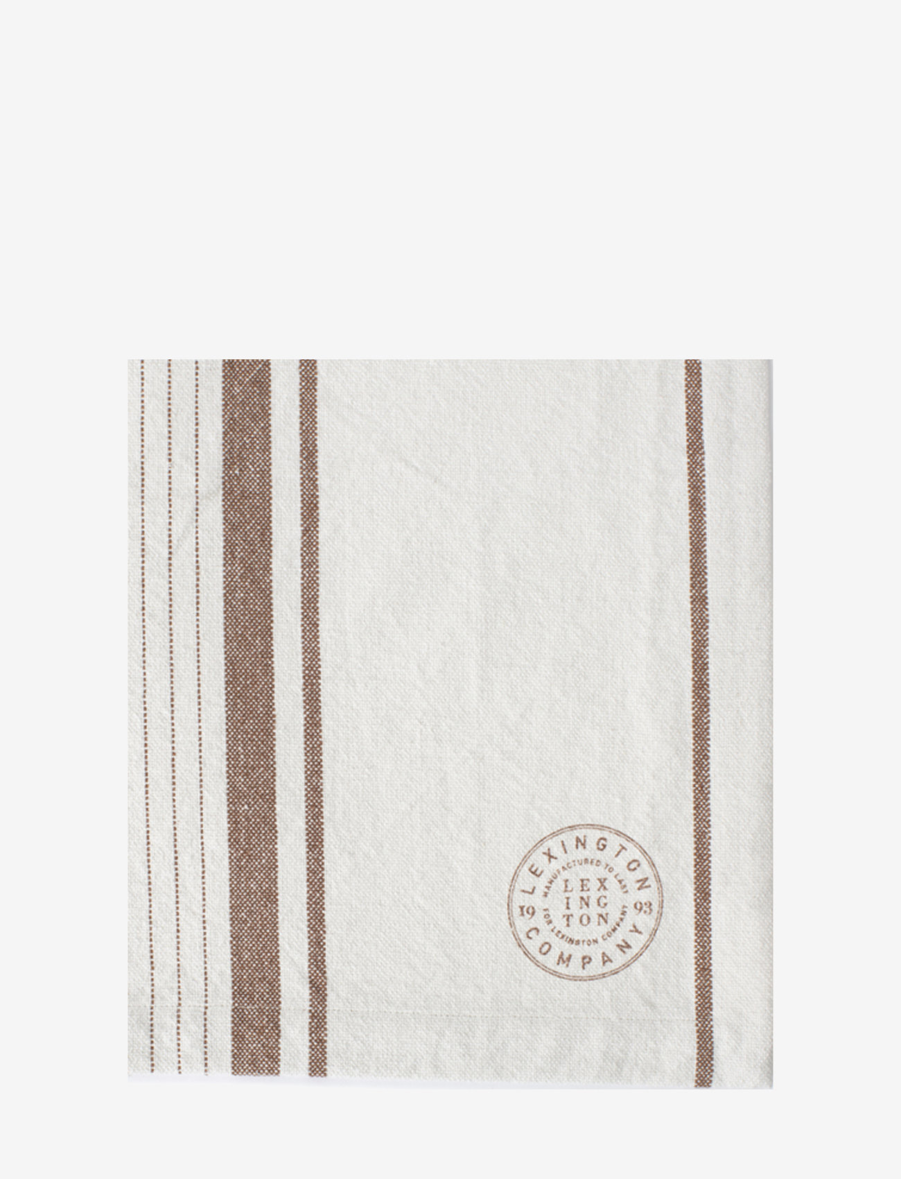 Lexington Home - Striped Cotton Canvas Placemat - sets de table et dessous de verre - off white/brown - 1