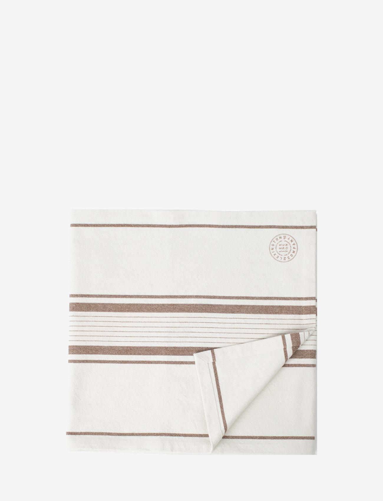 Lexington Home - Striped Cotton Canvas Runner - nappes et chemins de table - off white/brown - 0