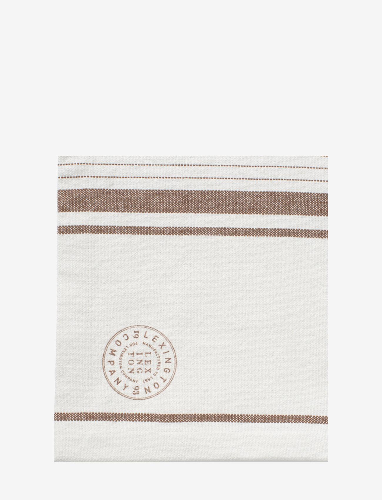Lexington Home - Striped Cotton Canvas Runner - nappes et chemins de table - off white/brown - 1