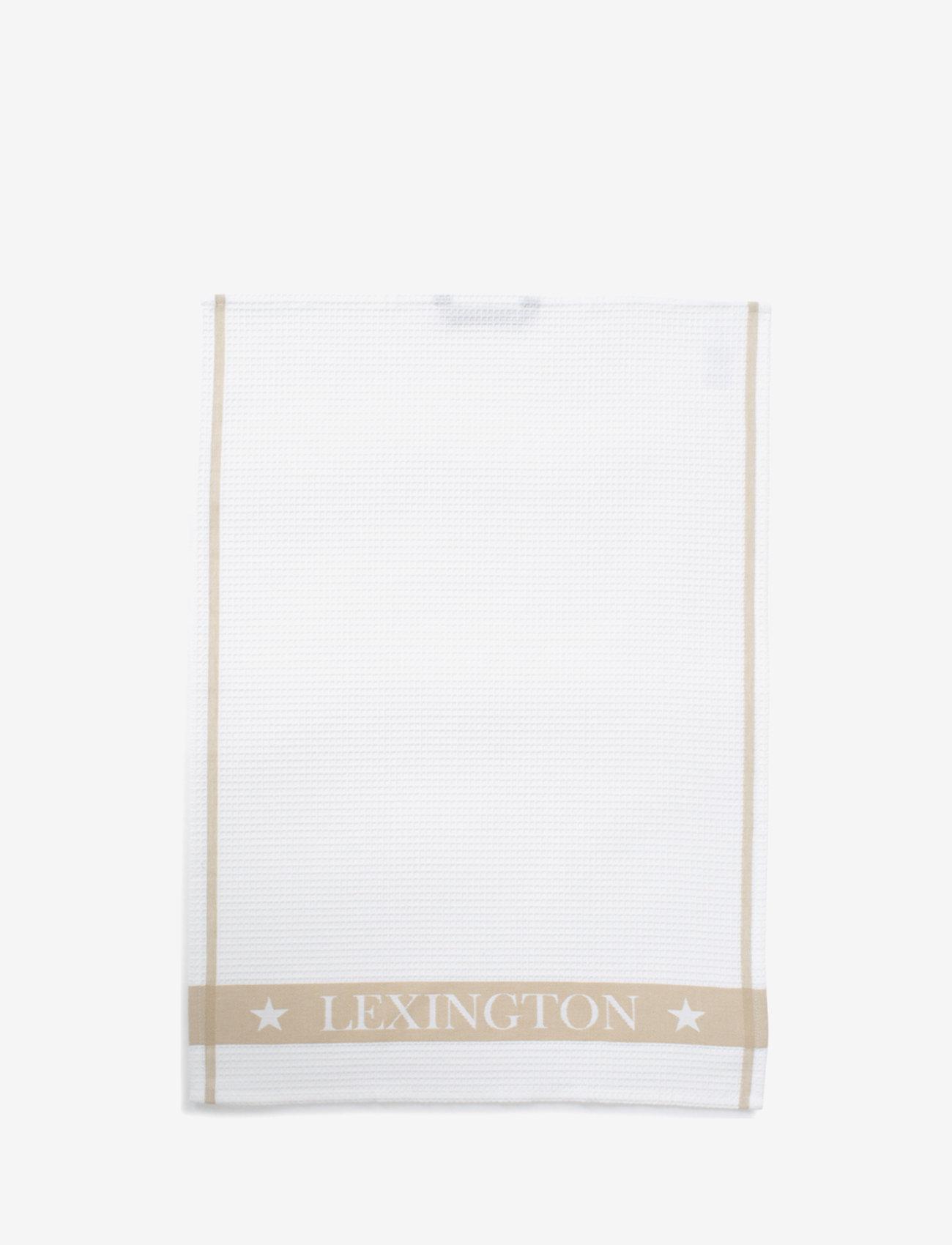 Lexington Home - Cotton Waffle Logo Kitchen Towel - nouveautes - white/beige - 0