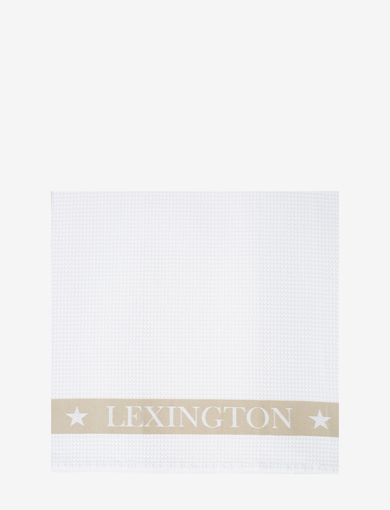 Lexington Home - Cotton Waffle Logo Kitchen Towel - nouveautes - white/beige - 1