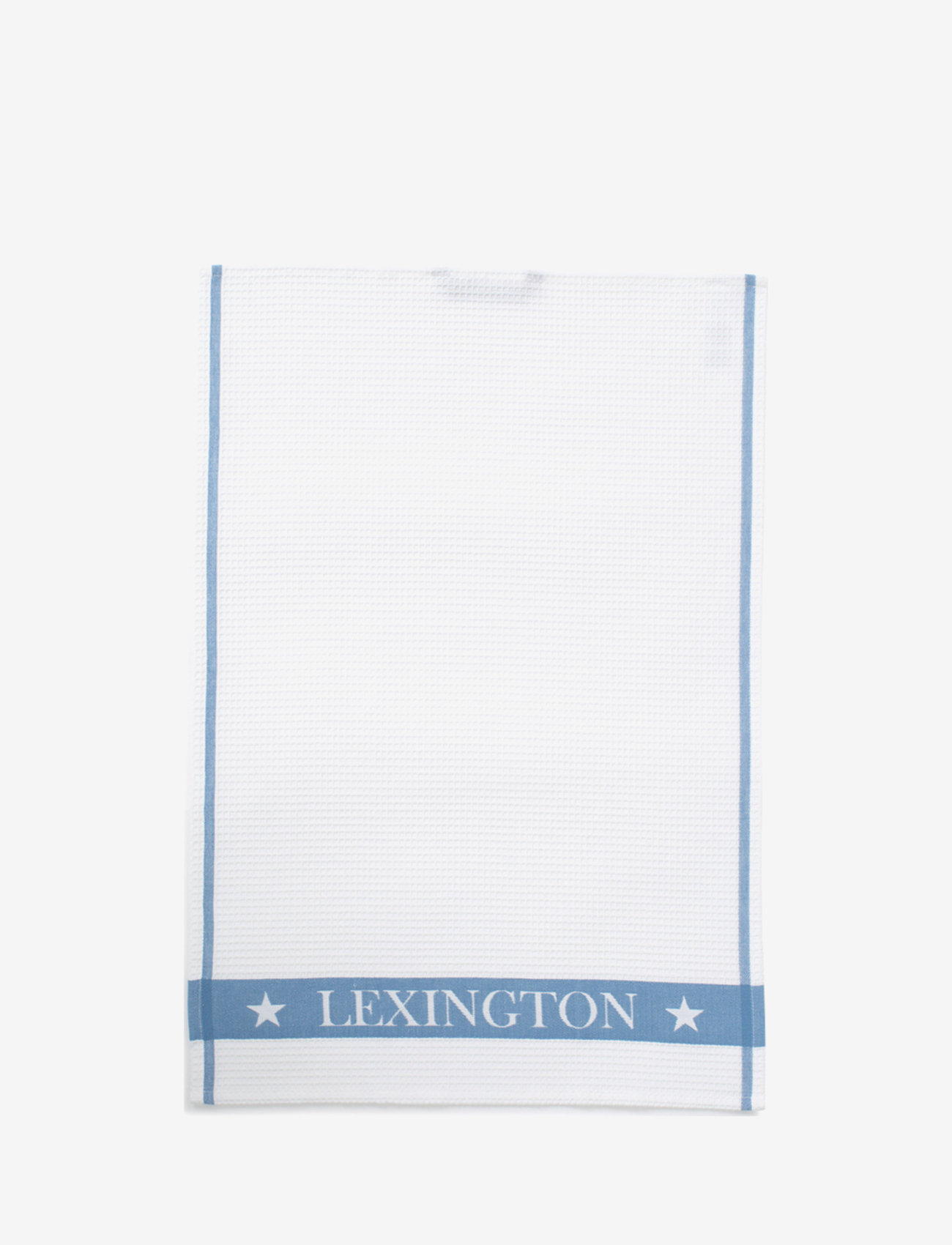 Lexington Home - Cotton Waffle Logo Kitchen Towel - cuisine - white/blue - 0
