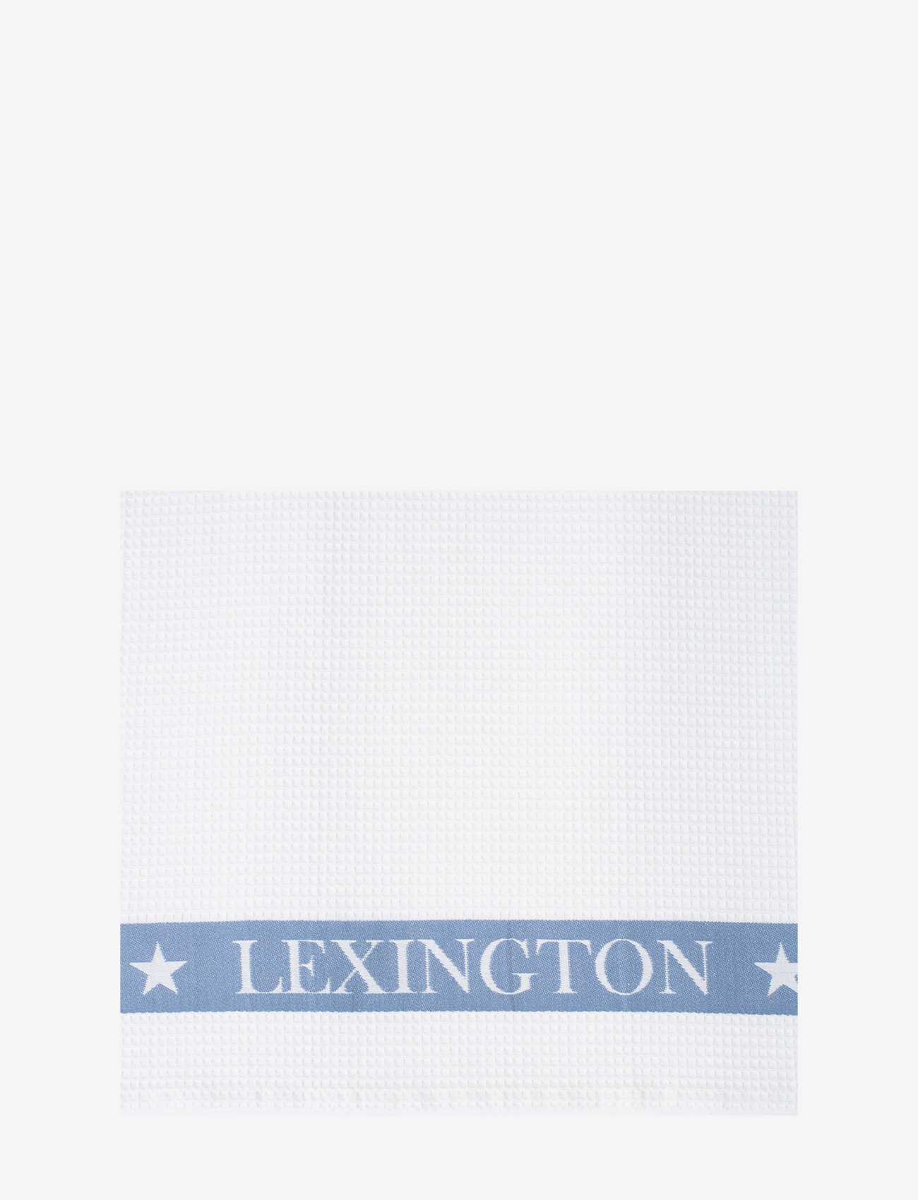 Lexington Home - Cotton Waffle Logo Kitchen Towel - cuisine - white/blue - 1