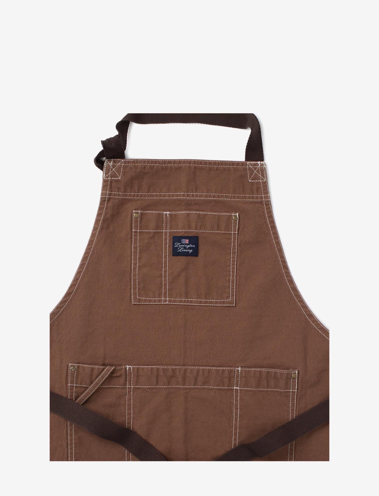 Lexington Home - Brown Cotton Canvas Apron - esiliinat - brown - 1