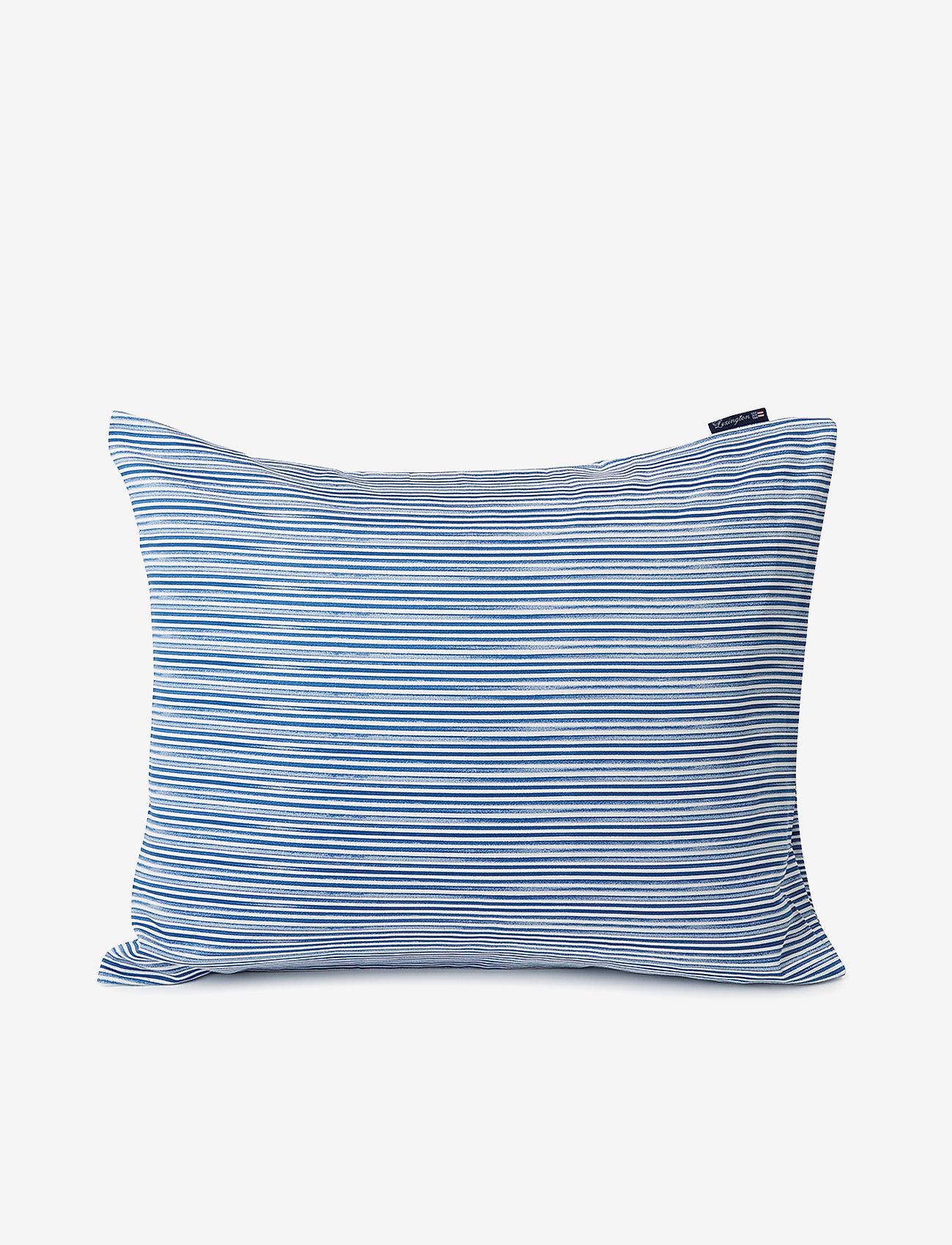 Lexington Home - Blue Striped Organic Cotton Sateen Pillowcase - taies d'oreiller - blue/white - 0