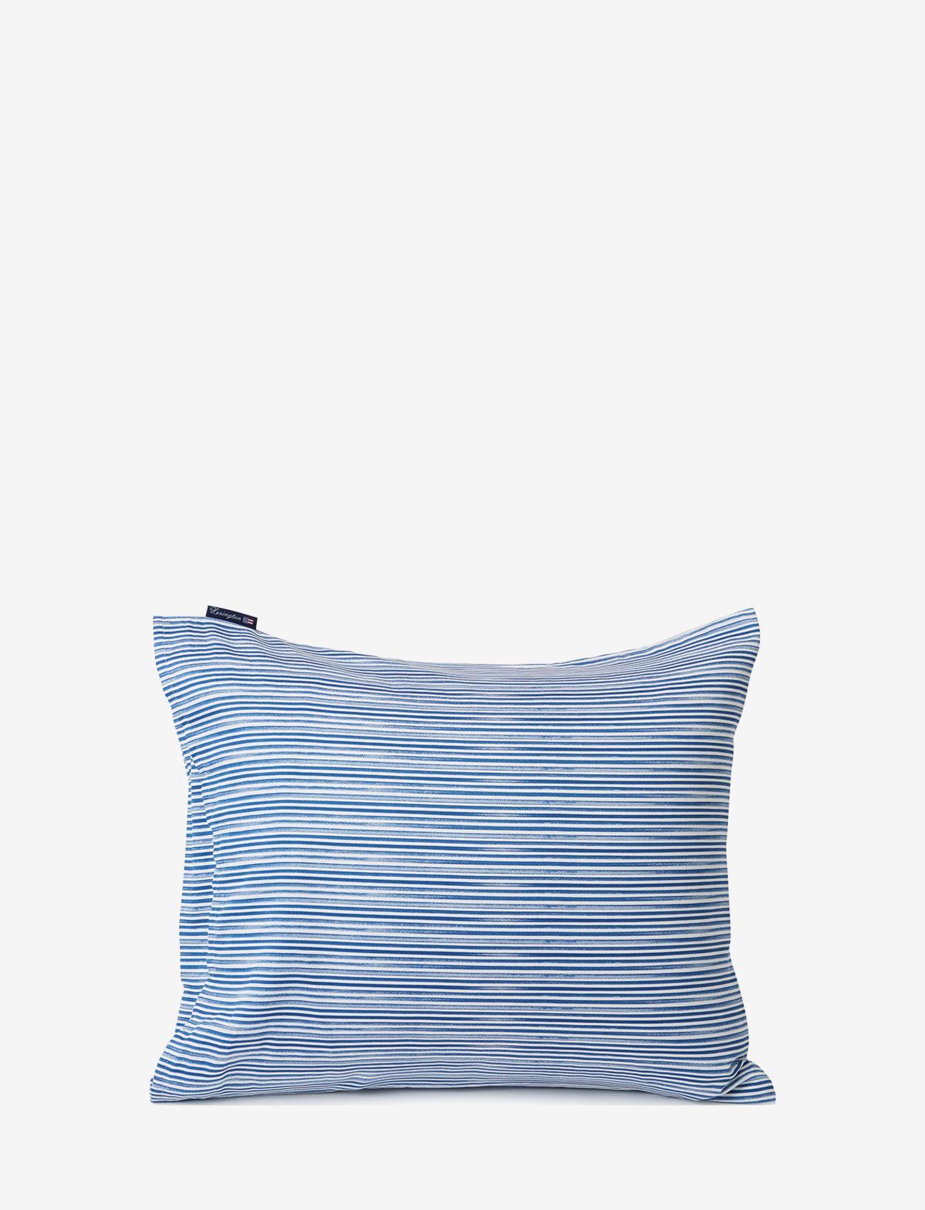 Lexington Home - Blue Striped Organic Cotton Sateen Pillowcase - taies d'oreiller - blue/white - 1