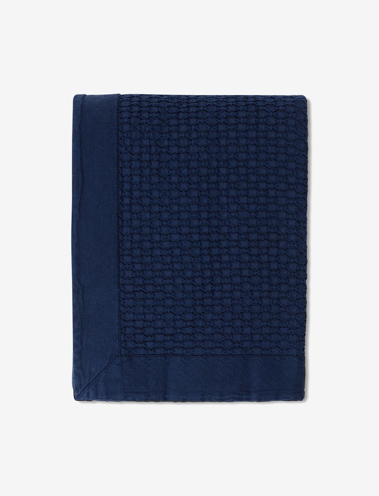 Lexington Home - Waffle Structure Organic Cotton Bedspread - literie - dk. blue - 0