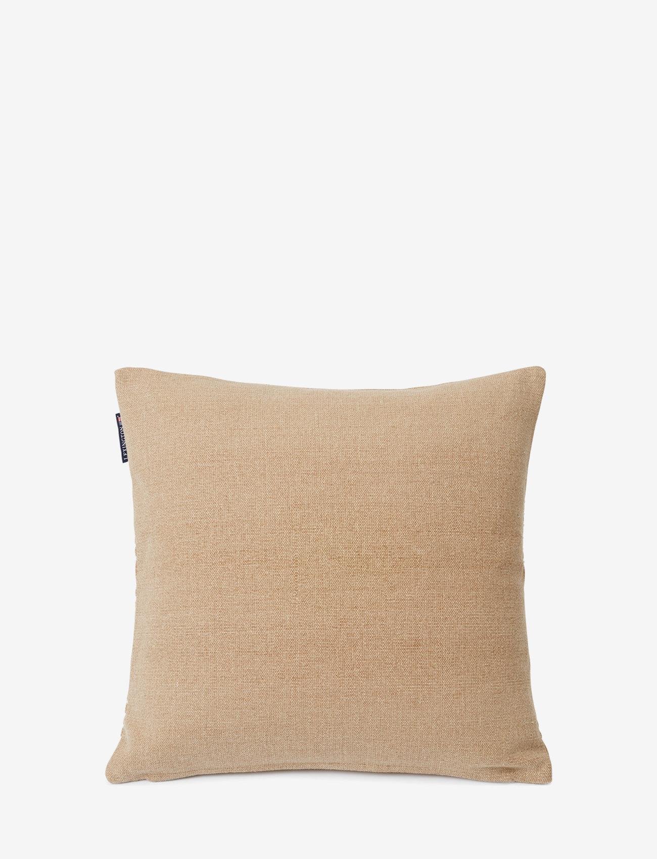 Lexington Home - Structure Stripes Recycl Cott Canvas Pillow Cover - coussins - beige/white - 1