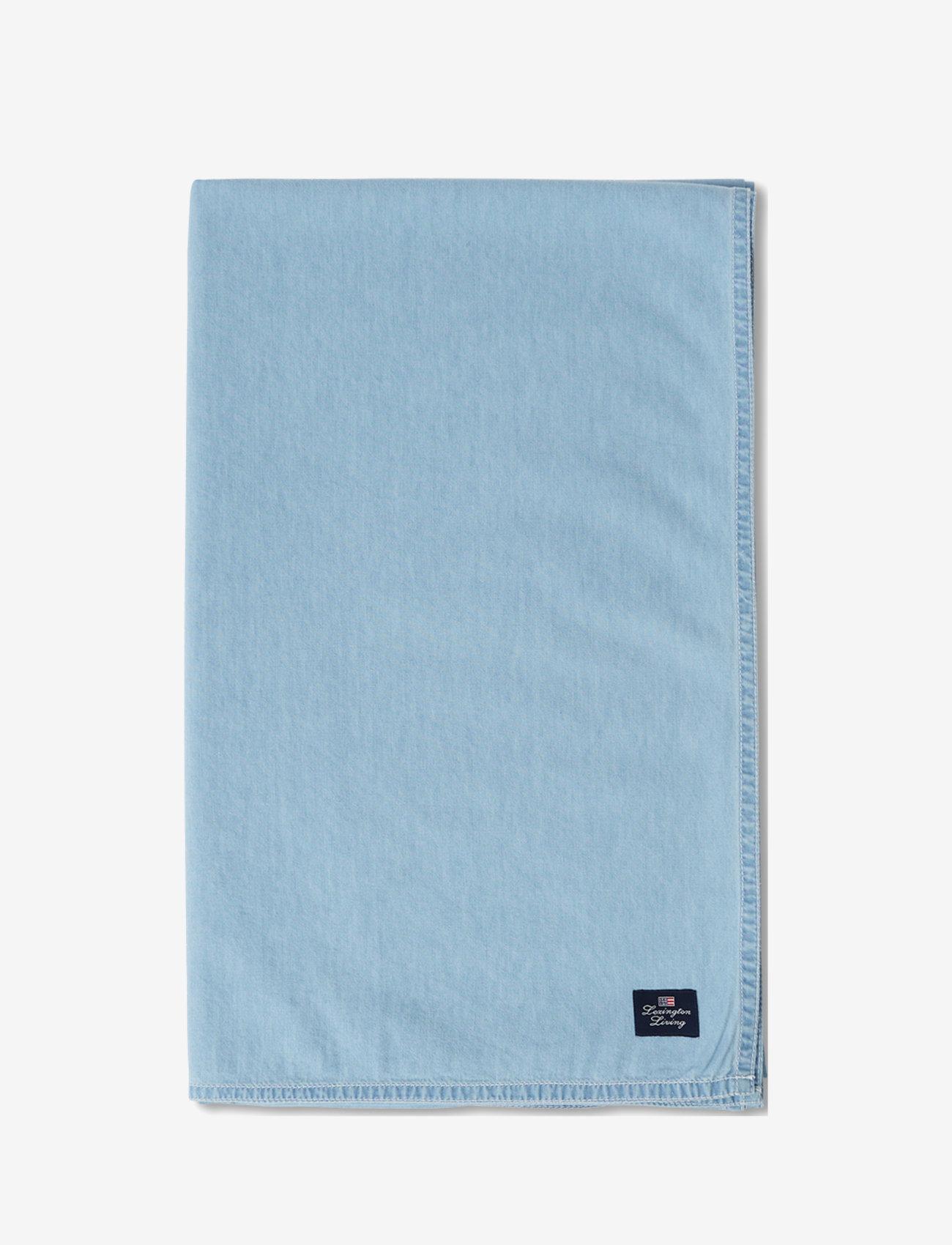 Lexington Home - Light Blue Denim Washed Cotton Tablecloth - nappes et chemins de table - lt blue denim - 1