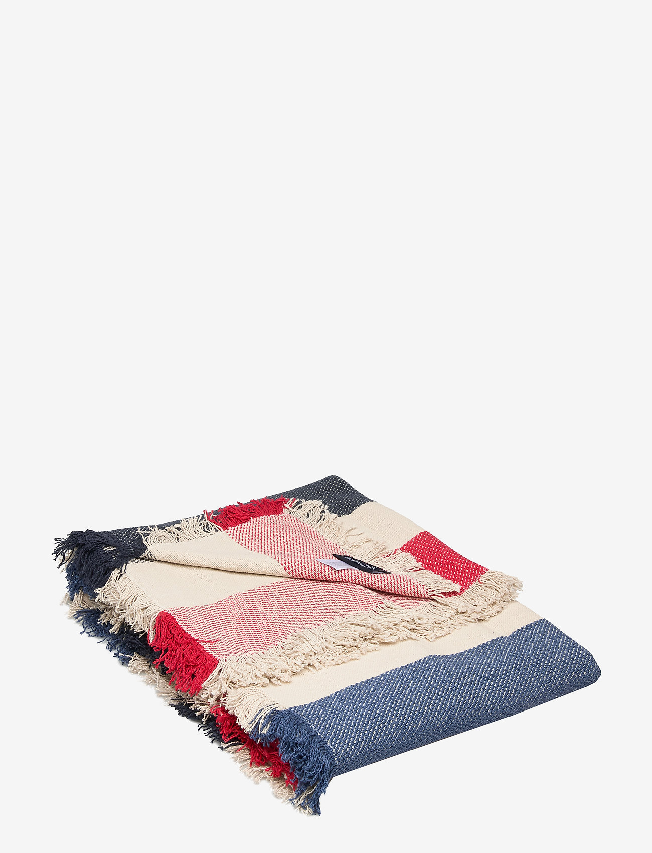 Lexington Home - Block Striped Cotton Blanket - viltit - multi - 0