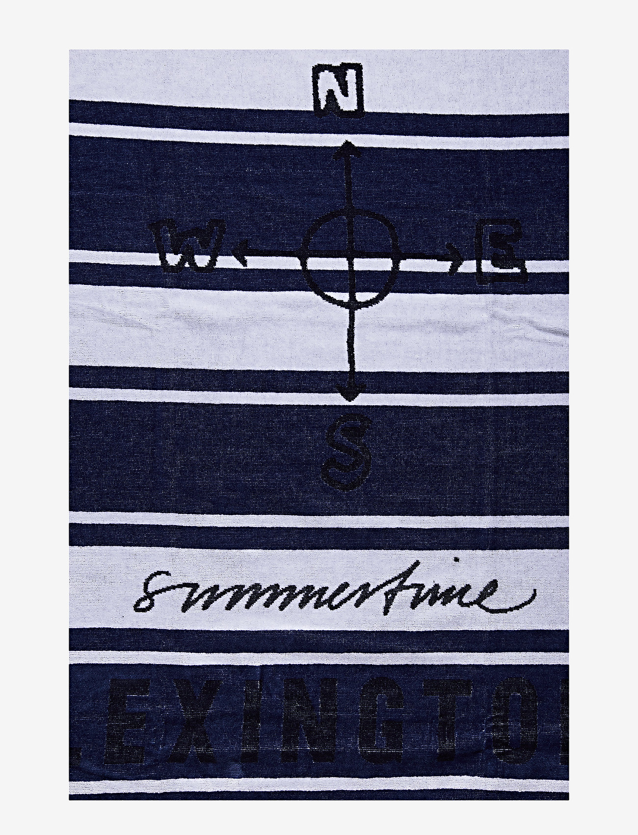 Lexington Home - Graphic Cotton Velour Beach Towel - beach towels - blue/white - 1