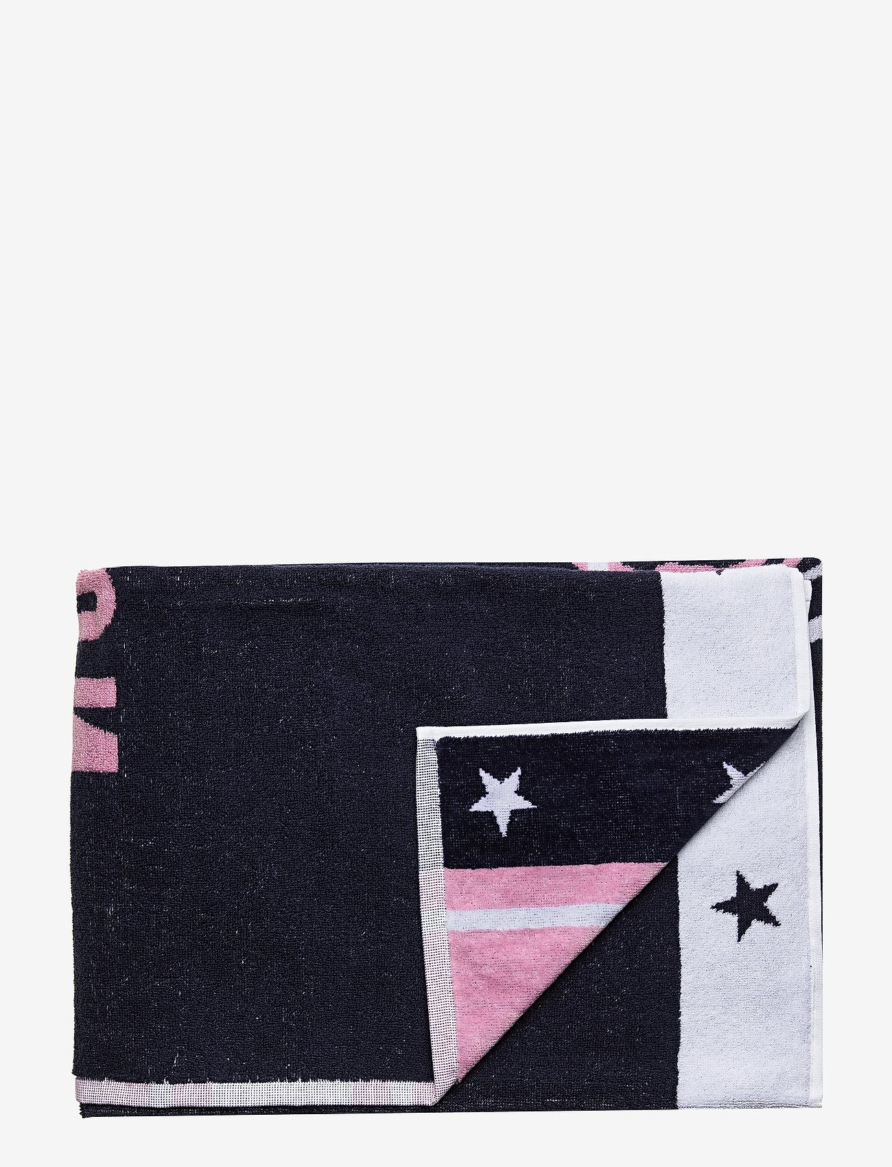 Lexington Home - Graphic Cotton Velour Beach Towel - muut - pink/white - 0