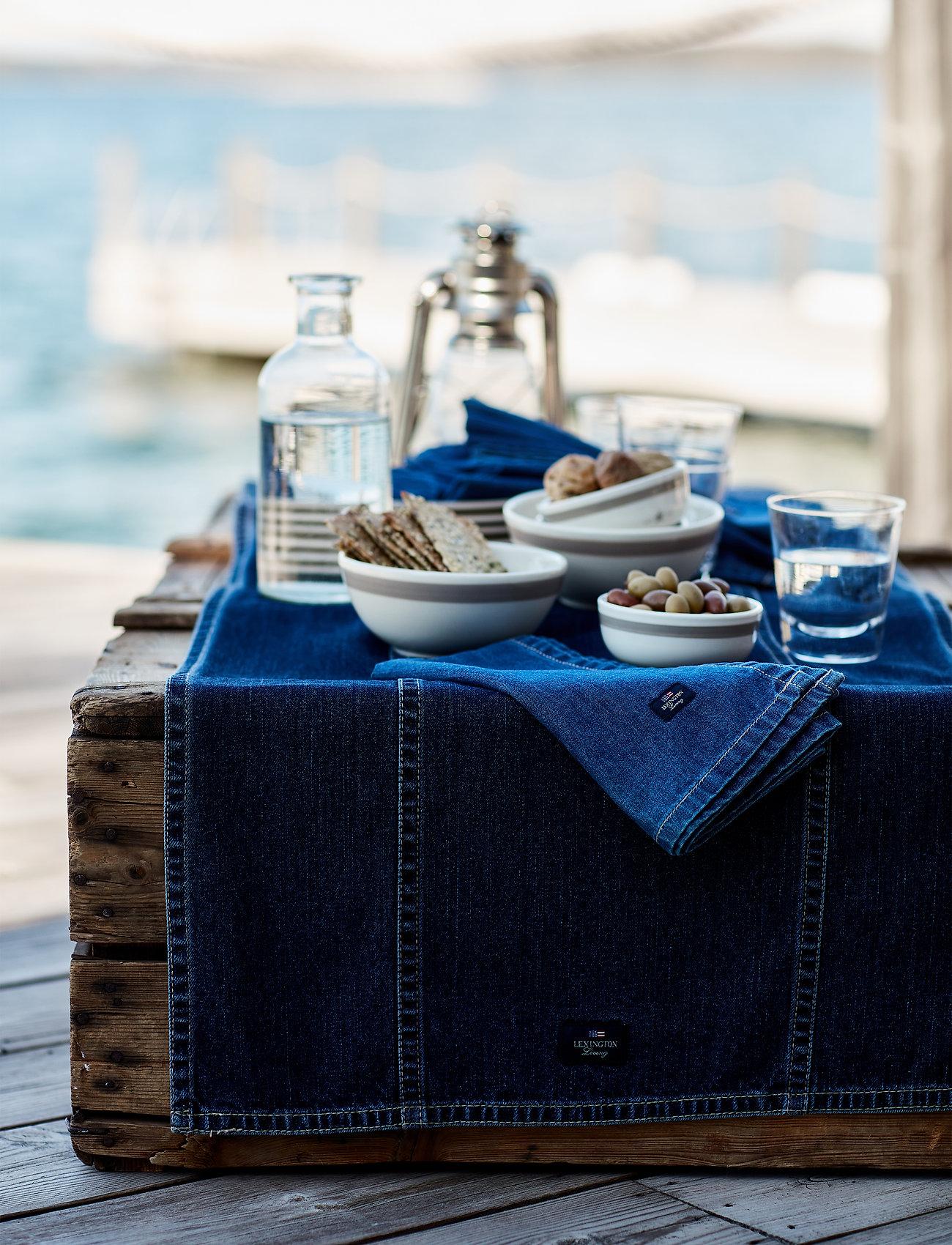 Lexington Home - Icons Cotton Twill Denim Tablecloth - kankaiset lautasliinat - denim blue - 1