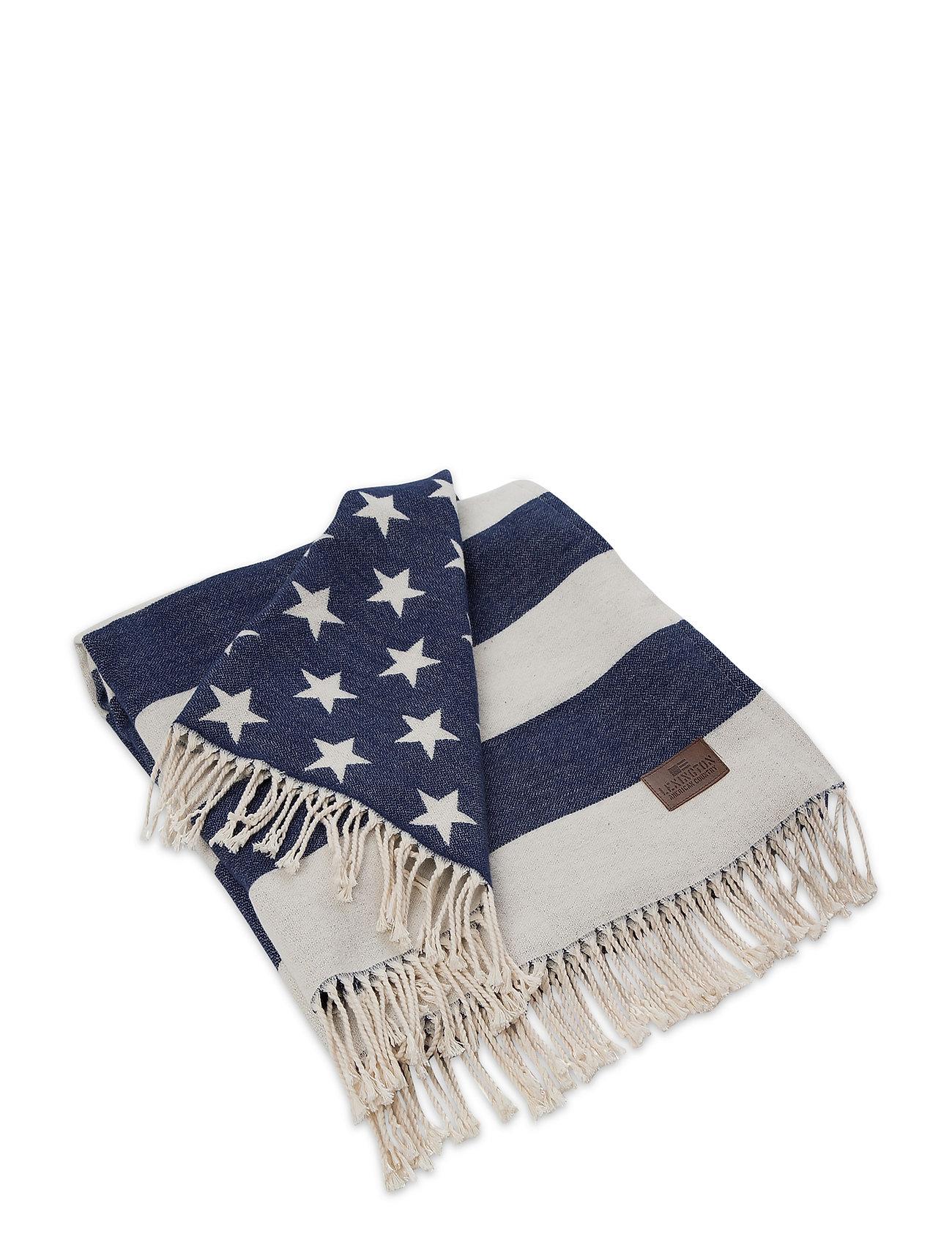 Lexington Home Flag Throw - WHITE/NAVY