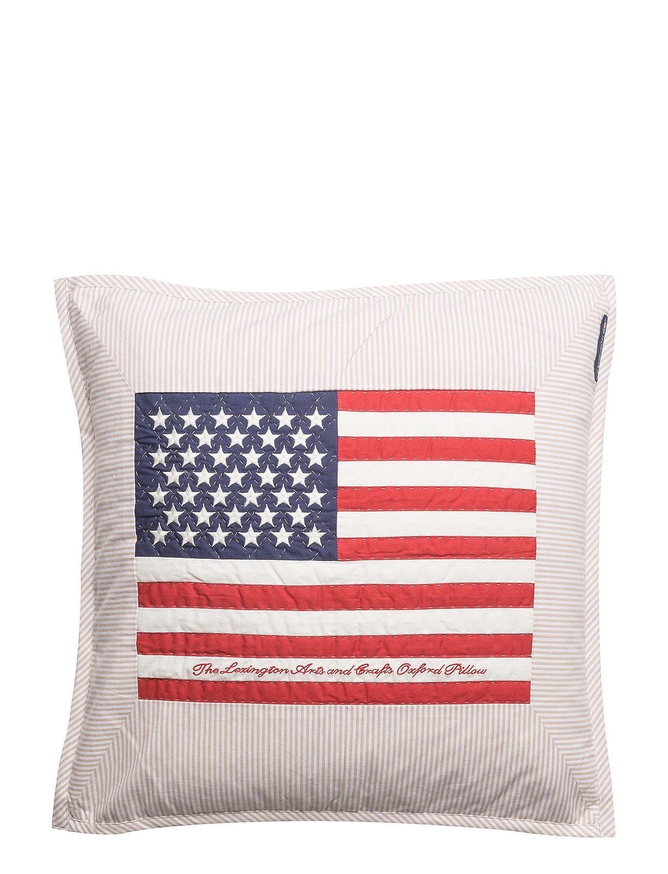 Lexington Home Flag Arts & Crafts Sham - BEIGE/WHITE