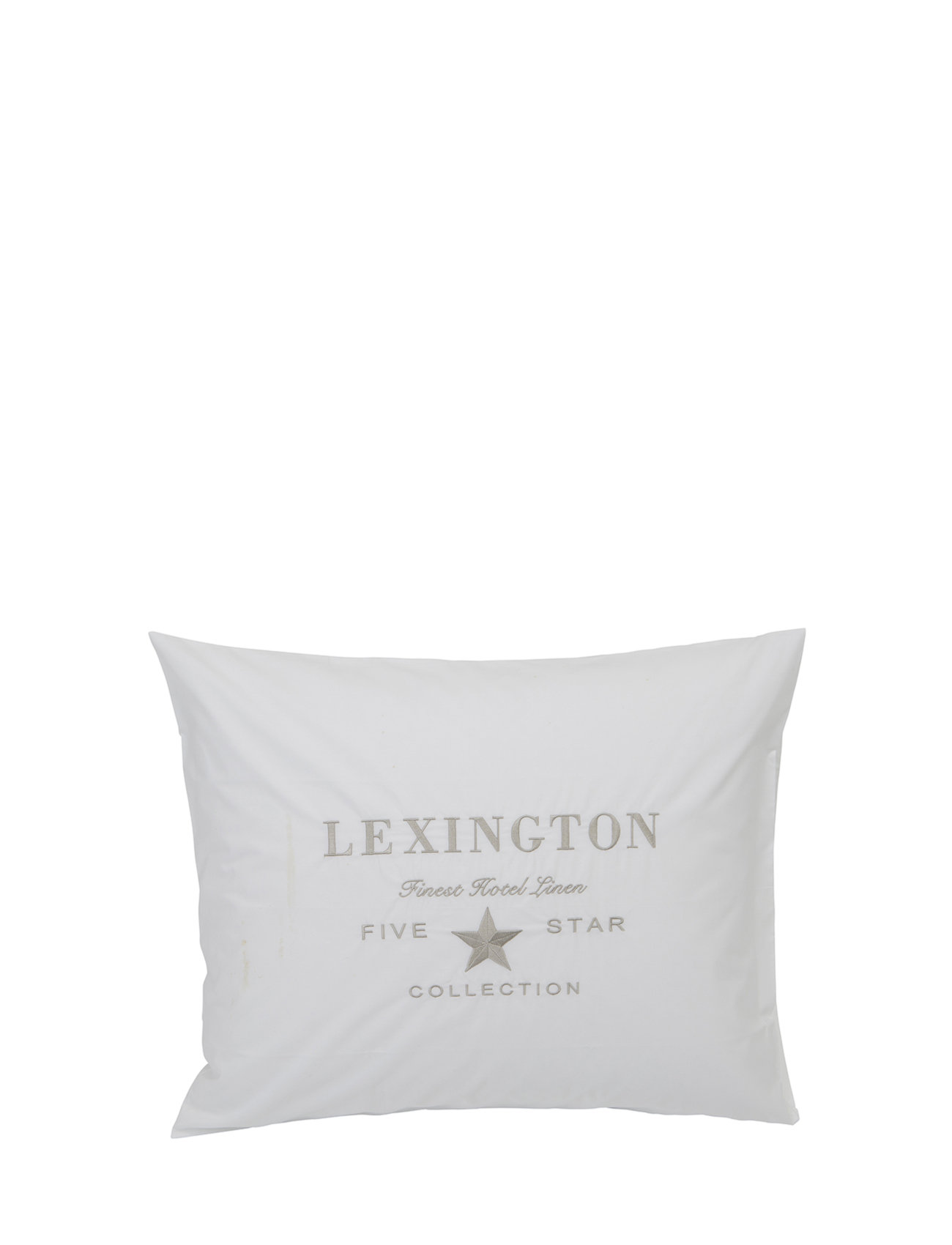 Lexington Home Hotel Embroidery White/Lt Beige Pillowcase - WHITE/LT BEIGE