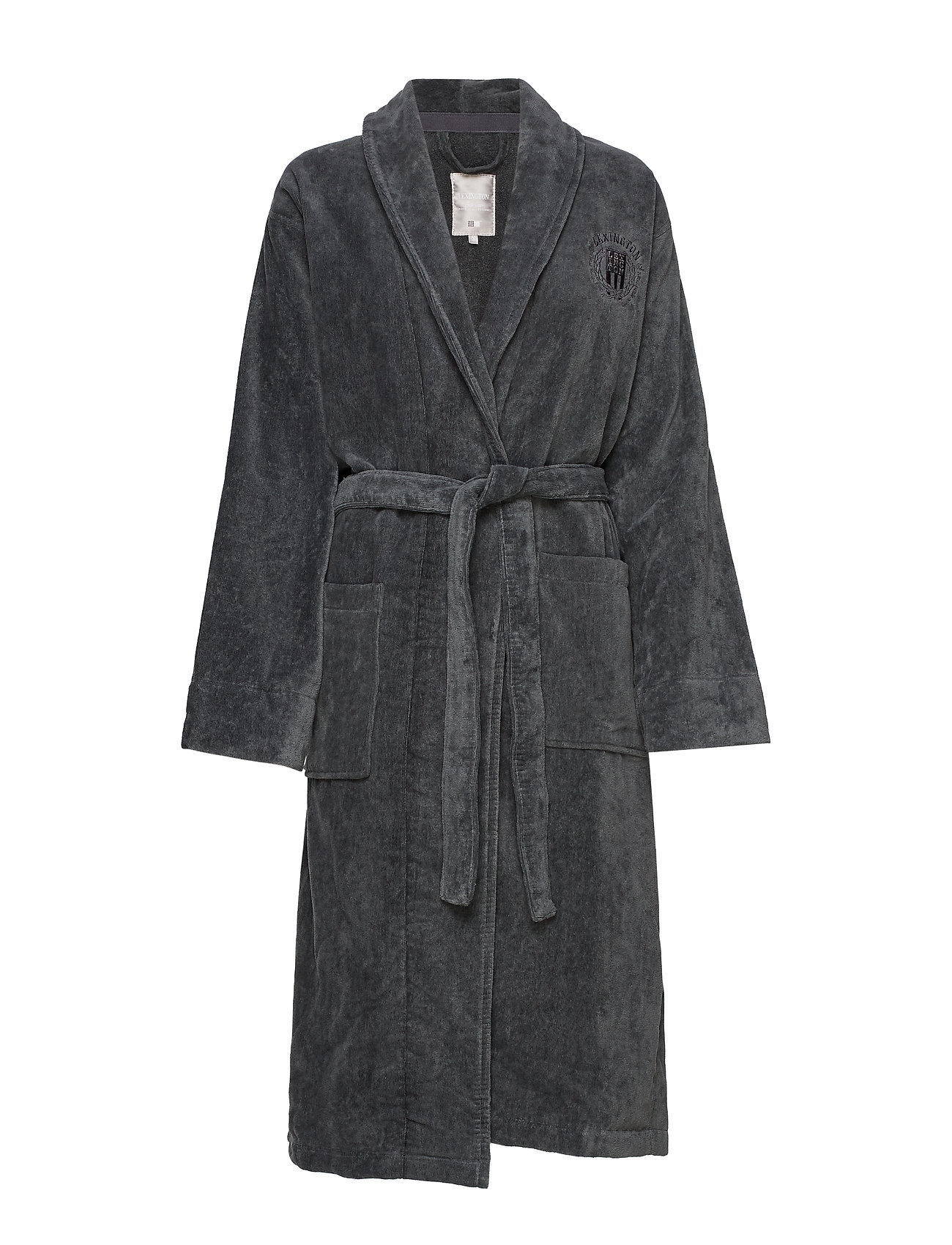 Lexington Home Hotel Velour Robe - GRAY