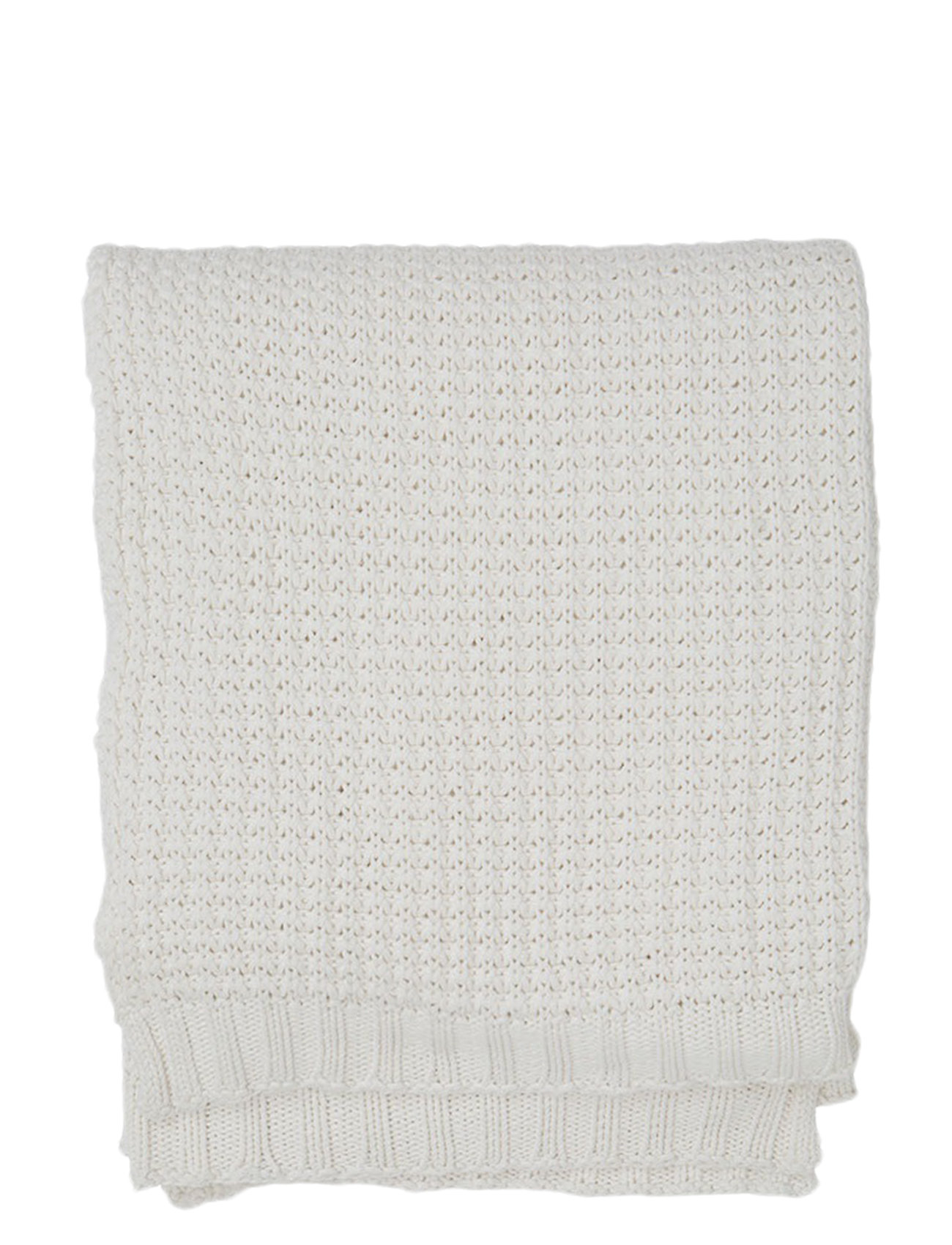 Lexington Home Knitted Cotton Throw - BEIGE