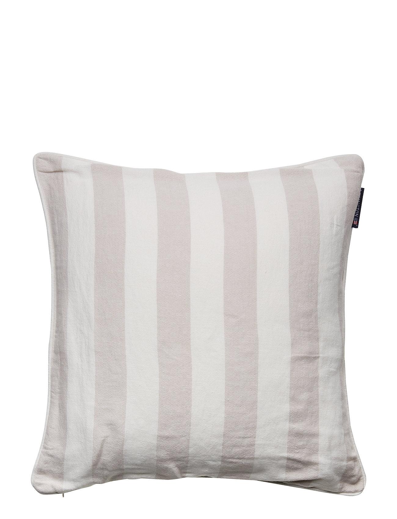 Lexington Home Viscose/Linen Striped Sham - BEIGE/WHITE