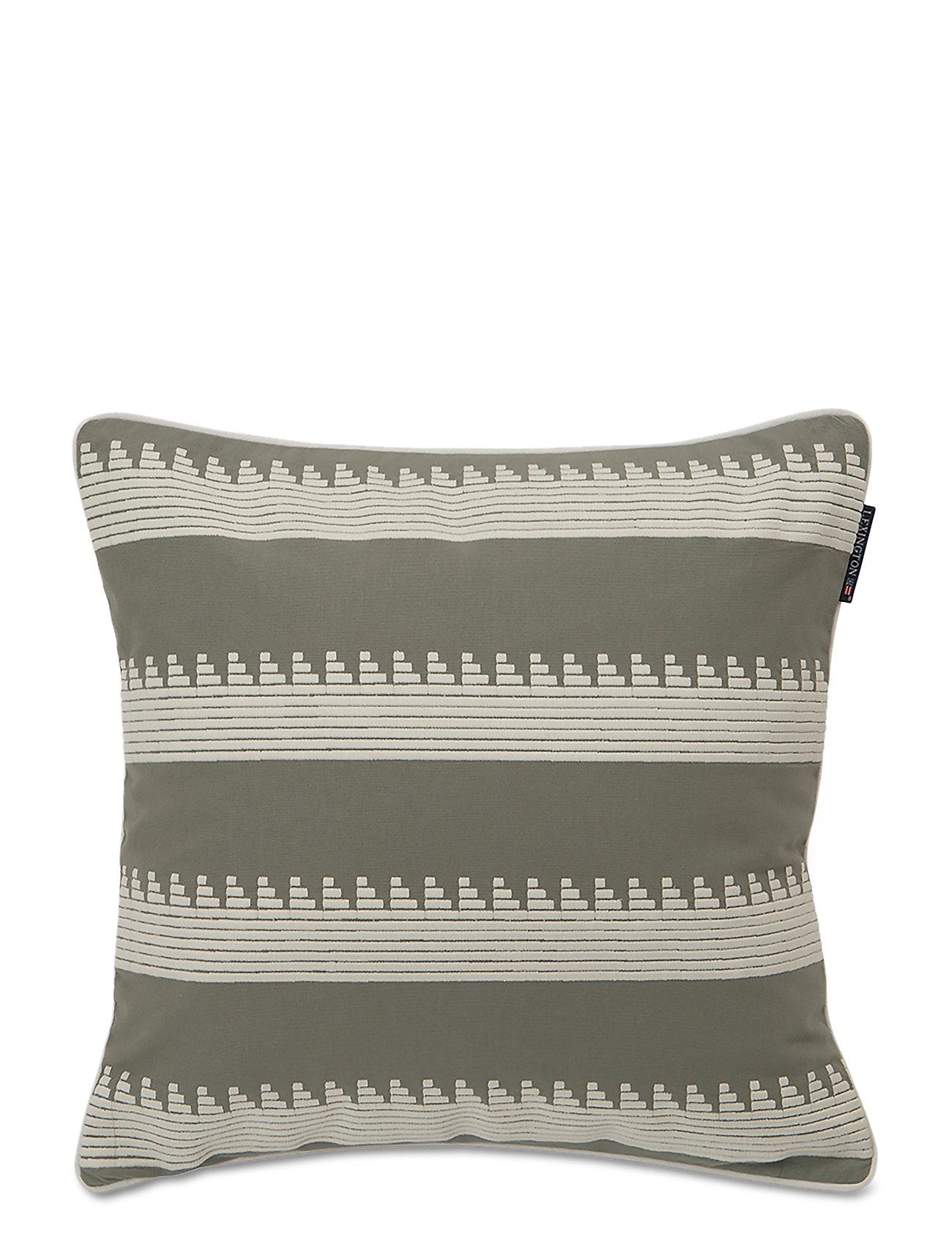 Embroidery Striped Shamgreen whiteLexington Home BodCreWx