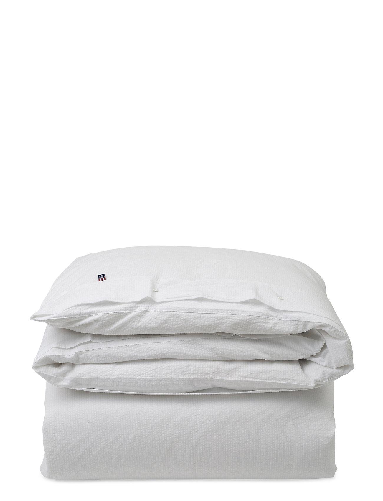 Lexington Home White Stripe Seersucker Duvet - WHITE