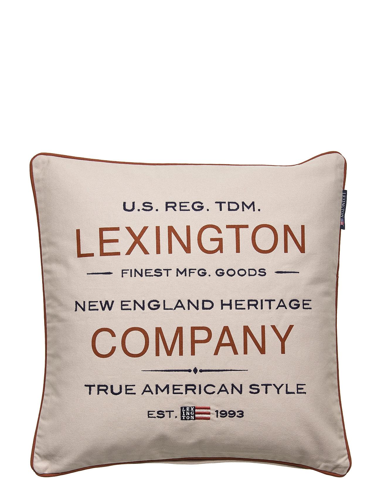 Image of Lexington Beige Logo Sham Dynebetræk Beige Lexington Home (3345965381)